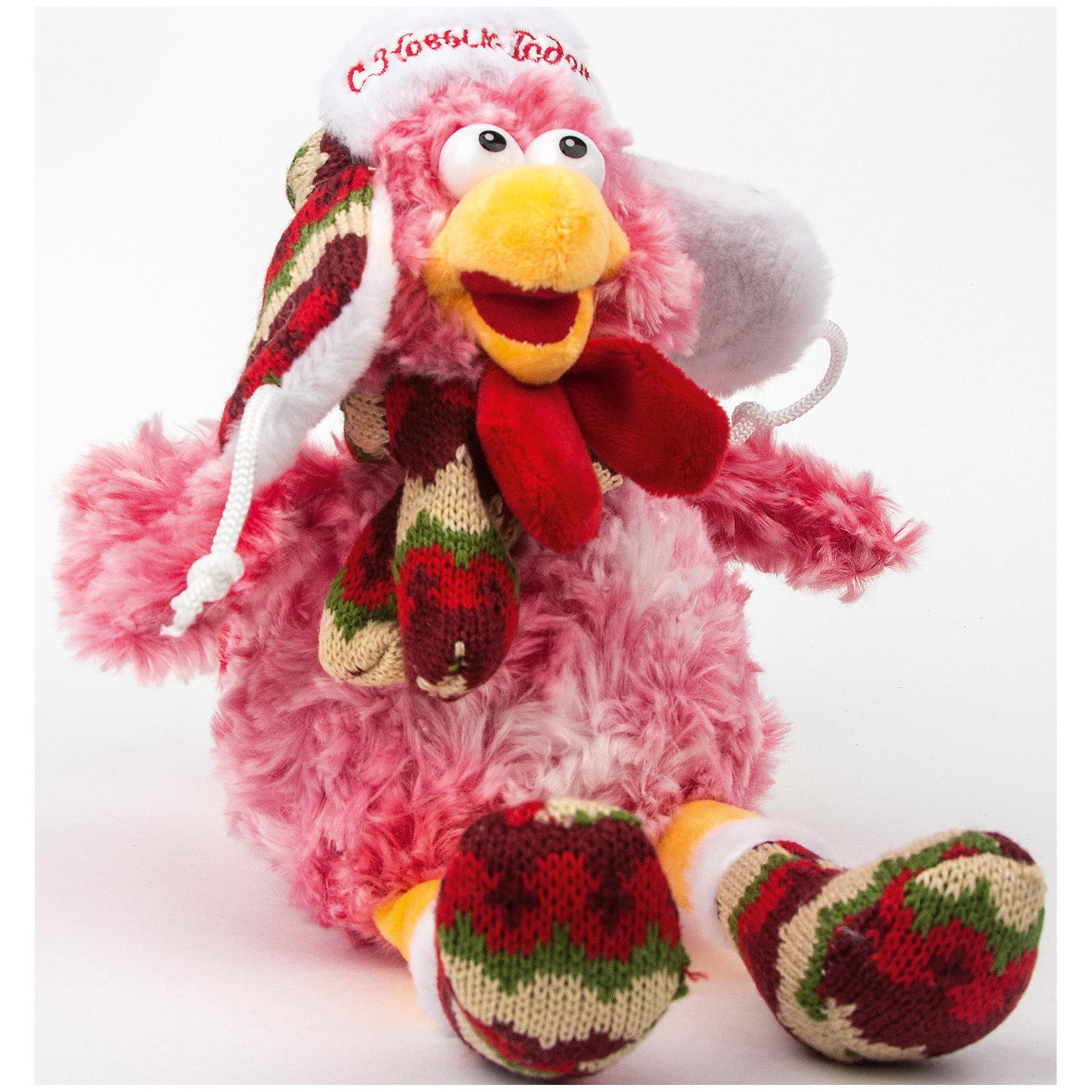 - Мягкая игрушка Русский петушок 20 см, ПУФФИ пуффи сув обезьянка с сердцем