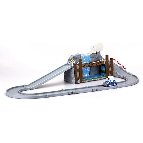 Набор Обрушающийся мост с металлической машинкой, Робокар ПолиРобокар Поли<br>Характеристики товара:<br><br>- цвет: разноцветный;<br>- материал: пластик, металл;<br>- габариты: 36х18х18 см;<br>- комплектация: детали трека, машинка;<br>- вес: 990 г.<br><br>Машинки – безусловные фавориты среди детских игрушек для мальчиков. Набор Обрушающийся мост с металлической машинкой – желанный подарок для малышей. Игрушка выполена в виде героя мультфильма Робокар Поли и его друзья, она отлично детализирована. Трек для машинки можно собрать из деталей - и мост на нем будет обрушиваться, если нажать на облако! Материалы, использованные при создании изготовлении изделия, полностью безопасны и отвечают всем международным требованиям по качеству детских товаров.<br><br>Набор Обрушающийся мост с металлической машинкой из серии Робокар Поли можно купить в нашем интернет-магазине.<br>Ширина мм: 170; Глубина мм: 350; Высота мм: 17; Вес г: 986; Возраст от месяцев: 36; Возраст до месяцев: 2147483647; Пол: Унисекс; Возраст: Детский; SKU: 5106283;