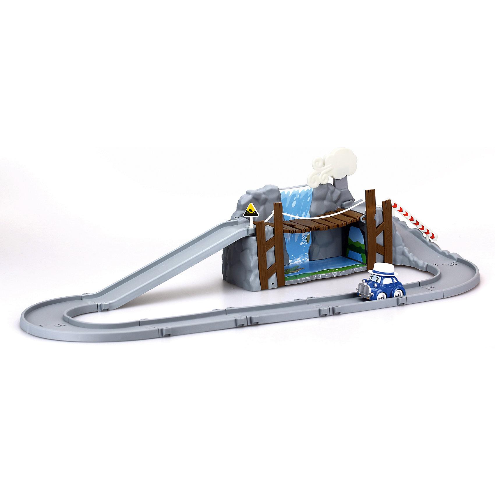 Набор Обрушающийся мост с металлической машинкой, Робокар ПолиХарактеристики товара:<br><br>- цвет: разноцветный;<br>- материал: пластик, металл;<br>- габариты: 36х18х18 см;<br>- комплектация: детали трека, машинка;<br>- вес: 990 г.<br><br>Машинки – безусловные фавориты среди детских игрушек для мальчиков. Набор Обрушающийся мост с металлической машинкой – желанный подарок для малышей. Игрушка выполена в виде героя мультфильма Робокар Поли и его друзья, она отлично детализирована. Трек для машинки можно собрать из деталей - и мост на нем будет обрушиваться, если нажать на облако! Материалы, использованные при создании изготовлении изделия, полностью безопасны и отвечают всем международным требованиям по качеству детских товаров.<br><br>Набор Обрушающийся мост с металлической машинкой из серии Робокар Поли можно купить в нашем интернет-магазине.<br><br>Ширина мм: 170<br>Глубина мм: 350<br>Высота мм: 17<br>Вес г: 986<br>Возраст от месяцев: 36<br>Возраст до месяцев: 2147483647<br>Пол: Унисекс<br>Возраст: Детский<br>SKU: 5106283