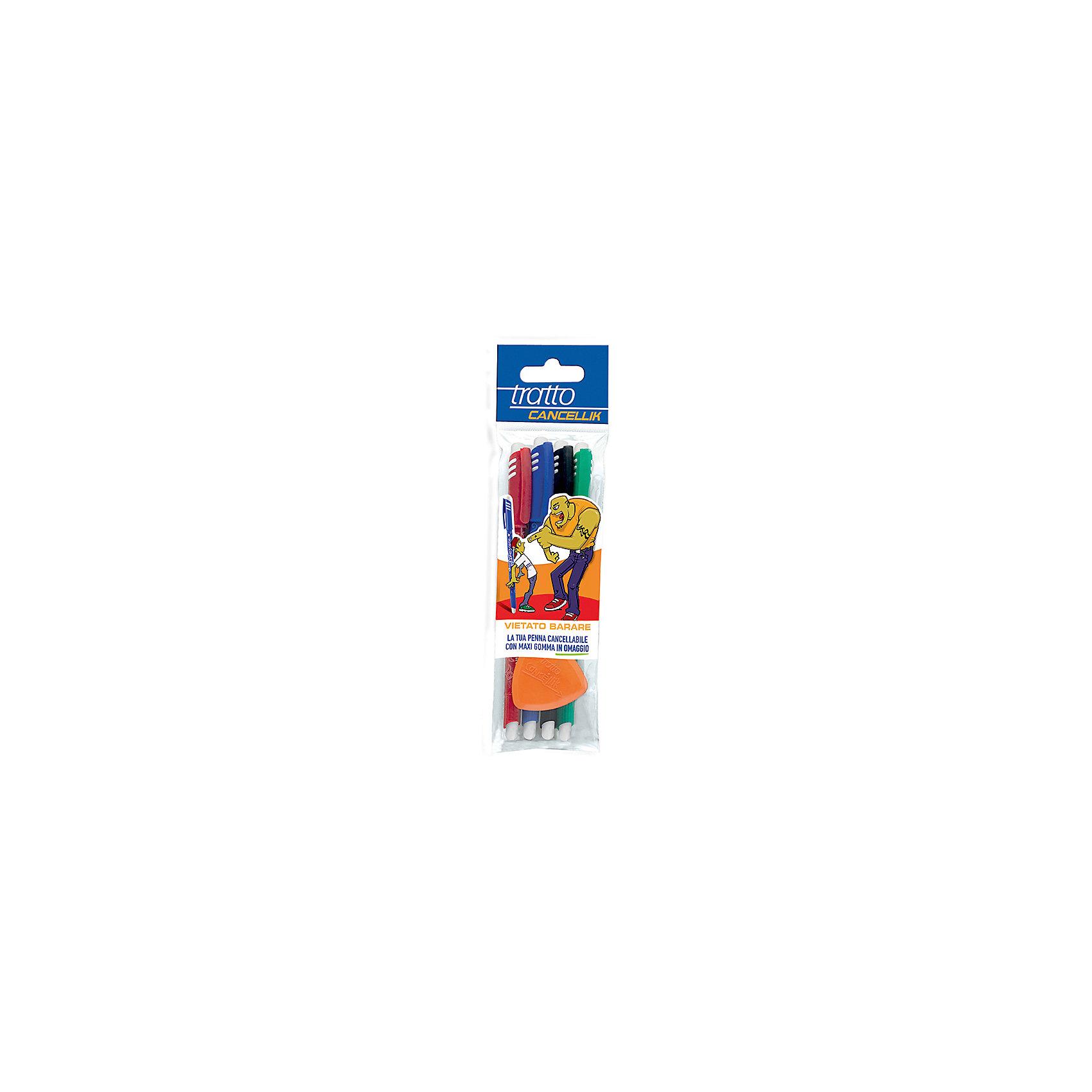 Шариковая ручка пиши-стирай, 4 шт в блистере + дополнительный ластик в наборе.Письменные принадлежности<br>Характеристики товара:<br><br>• в комплекте: 4 ручки, ластик;<br>• цвета чернил: черный, синий, красный, зеленый;<br>• поворотный механизм;<br>• толщина пишущего узла: 1 мм;<br>• материал: пластик;<br>• размер упаковки: 21х2х6 см;<br>• вес: 80 грамм;<br>• возраст: от 3 лет.<br><br>Шариковые ручки «пиши-стирай» позволят ребенку исправить ошибки, сделанные при написании. Чернила можно удалить ластиком в течение 24 часов после написания. В комплект входят 4 ручки: синяя, черная, зеленая, красная. Дополнительный ластик в комплекте. Чернила ручек обладают повышенной вязкостью, благодаря чему очень экономно расходуются и мягко пишут. <br><br>Шариковую ручку пиши-стирай, 4 шт в блистере + ластик можно купить в нашем интернет-магазине.<br><br>Ширина мм: 70<br>Глубина мм: 20<br>Высота мм: 160<br>Вес г: 61<br>Возраст от месяцев: 72<br>Возраст до месяцев: 120<br>Пол: Унисекс<br>Возраст: Детский<br>SKU: 5107778