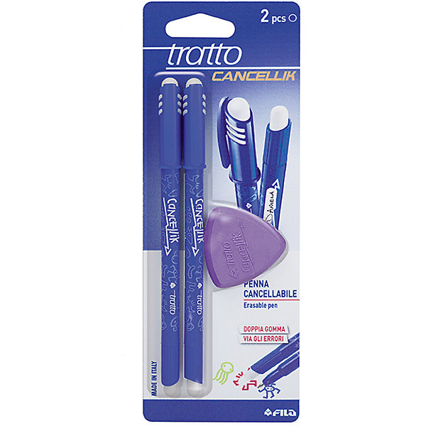 Шариковая ручка пиши-стирай  2 шт в блистере + дополнительный ластик, цвет синий.Письменные принадлежности<br>Характеристики товара:<br><br>• в комплекте: 2 ручки, ластик;<br>• цвет чернил: синий;<br>• ширина линии: 0,7 мм;<br>• размер упаковки: 21х7,5х1 см;<br>• возраст: от 3 лет.<br><br>Шариковые ручки «пиши-стирай» позволяют исправить свои ошибки и опечатки. В течение 24 часов чернила ручки можно удалить треугольным ластиком, входящим в комплект. Благодаря уникальной формуле чернил ручки мягко пишут, не царапая бумагу. Колпачок ручки надежно защищает чернила от высыхания.<br><br>Шариковую ручку пиши-стирай синяя, 2 шт в блистере + ластик можно купить в нашем интернет-магазине.<br><br>Ширина мм: 70<br>Глубина мм: 20<br>Высота мм: 160<br>Вес г: 47<br>Возраст от месяцев: 72<br>Возраст до месяцев: 120<br>Пол: Унисекс<br>Возраст: Детский<br>SKU: 5107779