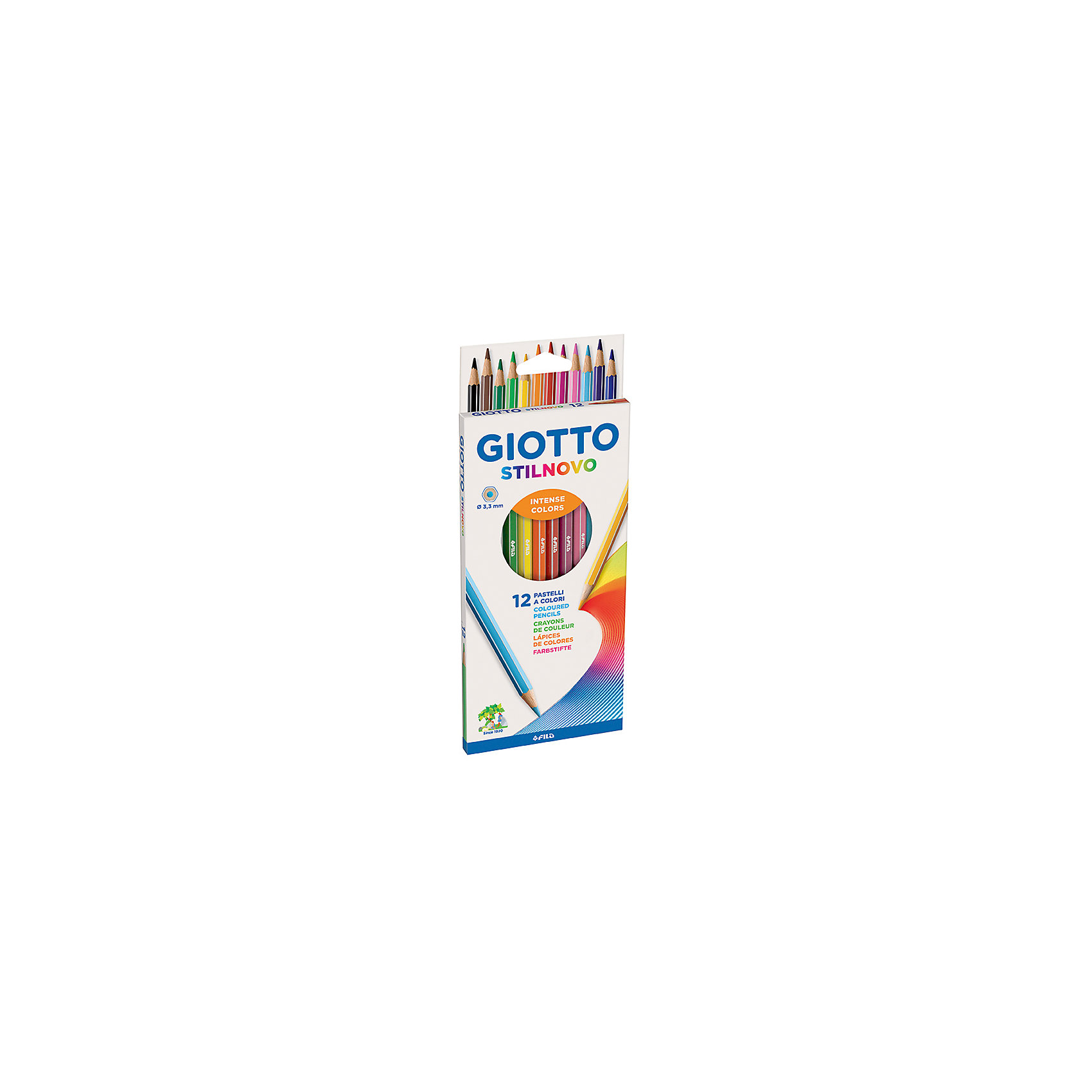 GIOTTO Цветные карандаши, 12 шт. giotto stilnovo цветные гексагональные 24 цвета