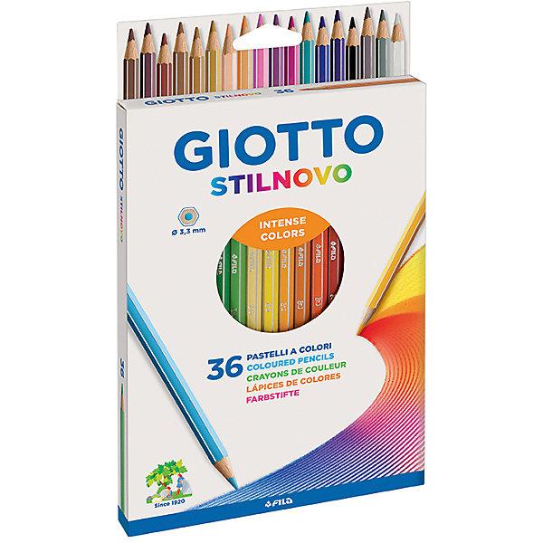 Цветные карандаши, 36 шт.Письменные принадлежности<br>Характеристики товара:<br><br>• в комплекте: 36 карандашей;<br>• толщина грифеля: 3,3 мм;<br>• размер упаковки: 22х27х1 см;<br>• вес: 190 грамм;<br>• возраст: от 3 лет.<br><br>Карандаши Giotto STILNOVO AST отлично подойдут как для школы, так и для рисования дома. Все карандаши изготовлены из качественной, сертифицированной, экологически чистой древесины. Они легко затачиваются, а грифель не крошится и хорошо выдерживает сильное нажатие. Грифели имеют яркие цвета и обеспечивают мягкое, комфортное рисование. На рубашке карандашей есть место для имени.<br><br>Giotto (Джотто) STILNOVO AST 36 цв Цветные гексагональные деревянные карандаши можно купить в нашем интернет-магазине.<br>Ширина мм: 160; Глубина мм: 22; Высота мм: 172; Вес г: 220; Возраст от месяцев: 72; Возраст до месяцев: 120; Пол: Унисекс; Возраст: Детский; SKU: 5107785;