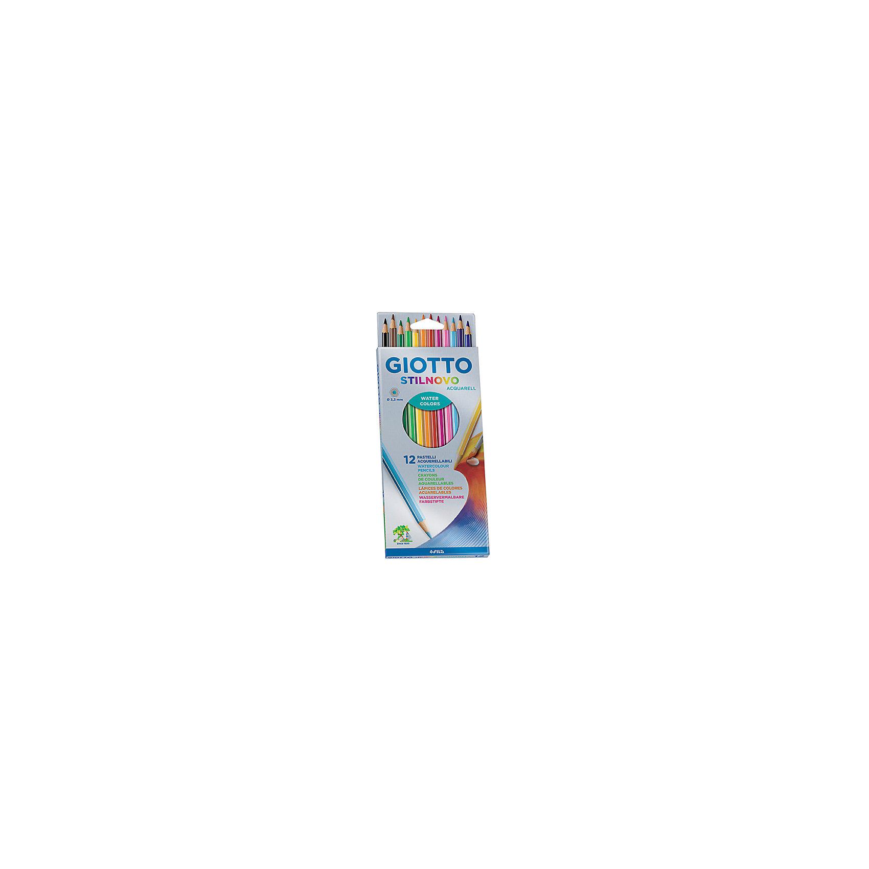 Акварельные цветные карандашии, 12 шт, кисть в комплекте.Письменные принадлежности<br>Характеристики товара:<br><br>• в комплекте: 12 карандашей (12 цветов), кисть;<br>• толщина грифеля: 3,3 мм;<br>• размер упаковки: 9х19х1 см;<br>• вес: 83 грамма;<br>• материал: дерево;<br>• возраст: от 3 лет.<br><br>Акварельные карандаши Giotto STILNOVO ACQUARELL AST прекрасно подойдут для рисования, раскрашивания и художественных занятий. В набор входят 12 карандашей ярких цветов. Во время рисования карандаши не ломаются, мягко пишут и хорошо размываются водой. Карандаши хорошо затачиваются, не требуя больших усилий.<br><br>Giotto (Джотто) STILNOVO ACQUARELL AST 12цв Цветные гексагональные акварельные деревянные карандаши можно купить в нашем интернет-магазине.<br><br>Ширина мм: 90<br>Глубина мм: 21<br>Высота мм: 180<br>Вес г: 83<br>Возраст от месяцев: 72<br>Возраст до месяцев: 2147483647<br>Пол: Унисекс<br>Возраст: Детский<br>SKU: 5107787