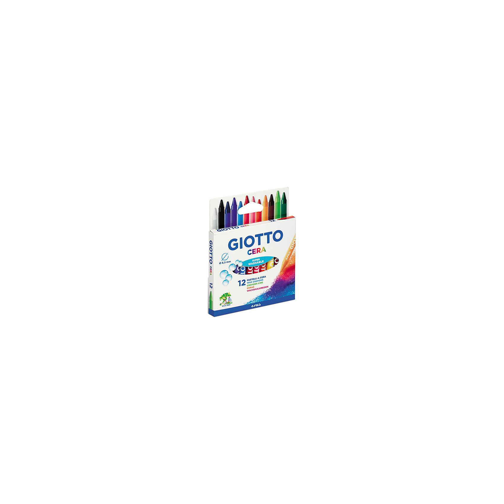 Восковые карандаши, 12 шт.Масляные и восковые мелки<br>Характеристики товара:<br><br>• материал: воск<br>• комплектация: 12 шт<br>• длина карандаша 90 мм<br>• толщина карандаша 8,5 мм<br>• каждый мелок в индивидуальной бумажной обертке<br>• возраст: от трех лет<br>• для творчества<br>• страна бренда: Италия<br>• страна производства: Китай<br><br>Этот набор станет отличным подарком ребенку! Творчество - удачный способ занять детей. Это не только занимательно, но и очень полезно. С помощью набора ребенок сможет нарисовать яркие картины! Карандаши удобно лежат в ладони, дают отличный цвет и линию.<br>Такое занятие как рисование помогает детям развивать многие важные навыки и способности: они тренируют внимание, память, логику, мышление, мелкую моторику, творческие способности, а также усидчивость и аккуратность. Изделие производится из качественных сертифицированных материалов, безопасных даже для самых маленьких.<br><br>Восковые карандаши, 12 шт. от бренда GIOTTO можно купить в нашем интернет-магазине.<br><br>Ширина мм: 90<br>Глубина мм: 13<br>Высота мм: 104<br>Вес г: 74<br>Возраст от месяцев: 72<br>Возраст до месяцев: 120<br>Пол: Унисекс<br>Возраст: Детский<br>SKU: 5107796