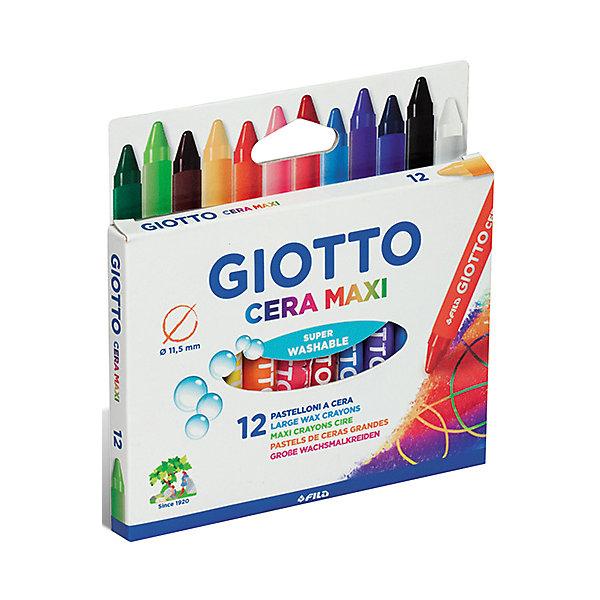 Утолщенные восковые карандаши, 12 шт.Масляные и восковые мелки<br>Характеристики товара:<br><br>• в комплекте: 12 карандашей (12 цветов);<br>• толщина карандаша: 11,5 мм;<br>• длина карандаша: 10 см;<br>• размер упаковки: 15х5х10 см;<br>• вес: 100 грамм;<br>• возраст: от 3 лет.<br><br>Восковые карандаши Giotto CERA MAXI отлично подойдут для дошкольников. Они имеют эргономичный размер, удобный для детских ручек. На каждом карандаше есть отдельная обертка, чтобы ребенок не испачкался в процессе рисования. <br><br>Карандаши выполнены в насыщенных цветах, сохраняющих яркость в течение долгого времени. Карандаши не ломаются, не пачкают руки и хорошо смываются водой. Для рисования ребенку не придется прикладывать больших усилий.<br><br>Giotto (Джотто) CERA MAXI 12 цв. Восковые утолщенные карандаши можно купить в нашем интернет-магазине.<br><br>Ширина мм: 130<br>Глубина мм: 14<br>Высота мм: 104<br>Вес г: 146<br>Возраст от месяцев: 72<br>Возраст до месяцев: 120<br>Пол: Унисекс<br>Возраст: Детский<br>SKU: 5107798