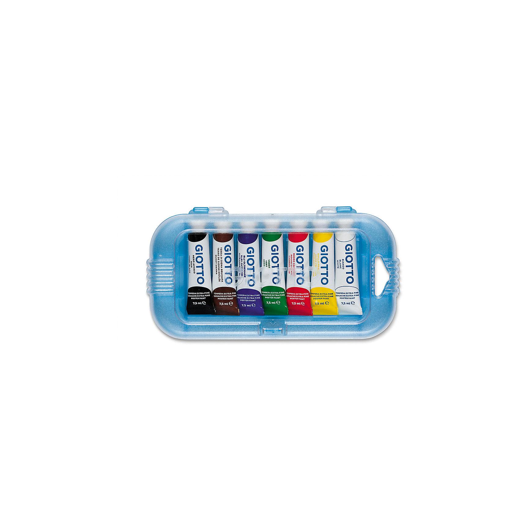 Плакатная гуашь на водной основе в алюминиевых тюбиках 7,5 мл х 7 цветовРисование и лепка<br>Плакатная гуашь на водной основе в алюминиевых тюбиках 7,5 мл х 7 цв. Экстра-яркие насыщенные цвета, высокая концентрация пигмента, максимальная укрывистость. Набор в палстиковом кейсе.<br><br>Ширина мм: 21<br>Глубина мм: 102<br>Высота мм: 190<br>Вес г: 163<br>Возраст от месяцев: 72<br>Возраст до месяцев: 120<br>Пол: Унисекс<br>Возраст: Детский<br>SKU: 5107819