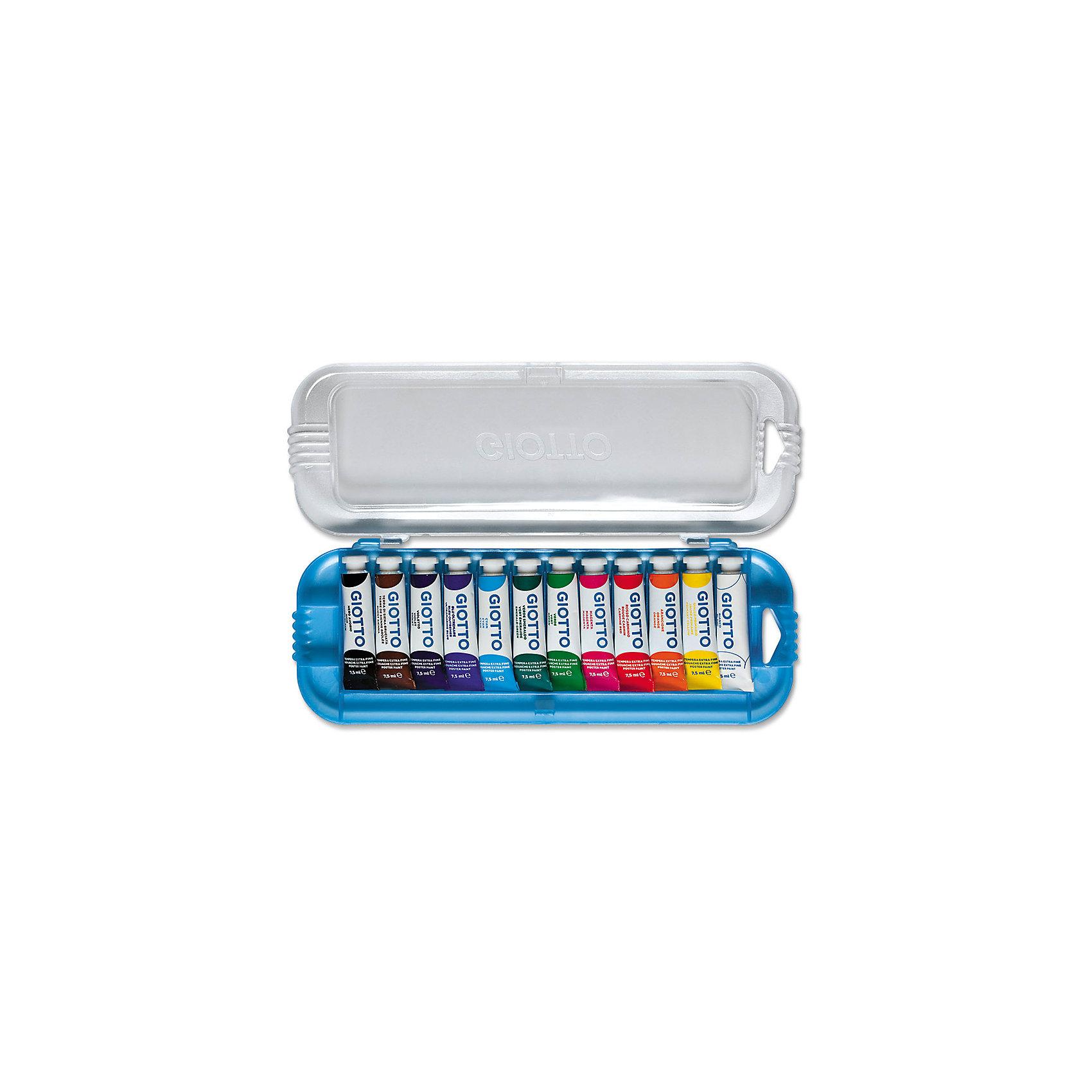 Плакатная гуашь на водной основе в алюминиевых тюбиках 7,5 мл х 12 цветовРисование и лепка<br>Плакатная гуашь на водной основе в алюминиевых тюбиках 7,5 мл х 12 цв. Экстра-яркие насыщенные цвета, высокая концентрация пигмента, максимальная укрывистость. Набор в палстиковом кейсе.<br><br>Ширина мм: 21<br>Глубина мм: 102<br>Высота мм: 270<br>Вес г: 263<br>Возраст от месяцев: 72<br>Возраст до месяцев: 120<br>Пол: Унисекс<br>Возраст: Детский<br>SKU: 5107820