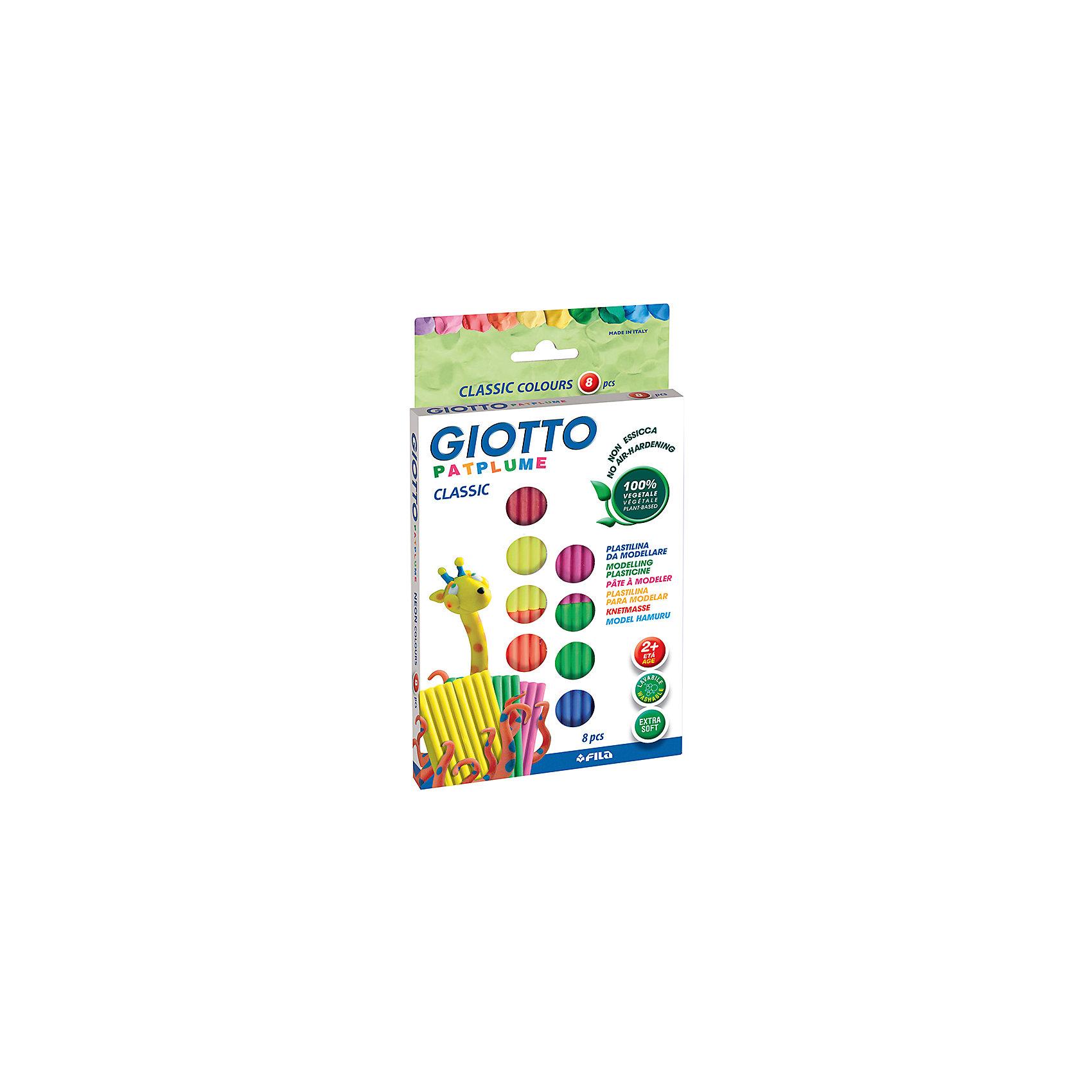 Экстра-мягкий пластилин 8 цв х 33 г, пастельные цвета.Рисование и лепка<br>Характеристики товара:<br><br>• в комплекте: пластилин 8 цветов;<br>• вес одного брусочка: 33 грамма;<br>• возраст: от 2 лет.<br><br>Набор Giotto PATPLUME содержит пластилин, выполненный в восьми пастельных цветах. Пластилин изготовлен на растительной основе с добавлением пищевых красителей, поэтому он полностью безопасен для маленьких детей. Даже при проглатывании пластилин не нанесет вреда малышу.<br><br>Пластилин Giotto PATPLUME хорошо размягчается, не прилипает к рукам, а также легко смывается с любых поверхностей. Яркие цвета подходят для занятий лепкой и изготовления поделок.<br><br>Giotto (Джотто) PATPLUME пластилин. 8 цв х 33 гр пастельные цвета можно купить в нашем интернет-магазине.<br><br>Ширина мм: 15<br>Глубина мм: 227<br>Высота мм: 127<br>Вес г: 264<br>Возраст от месяцев: 72<br>Возраст до месяцев: 120<br>Пол: Унисекс<br>Возраст: Детский<br>SKU: 5107842