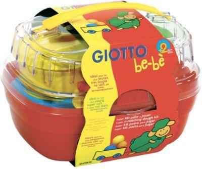 Giotto Bebe Набор массы для моделирования 4цв х 100 г и аксессуаров для лепки в пластиковом сундучке.