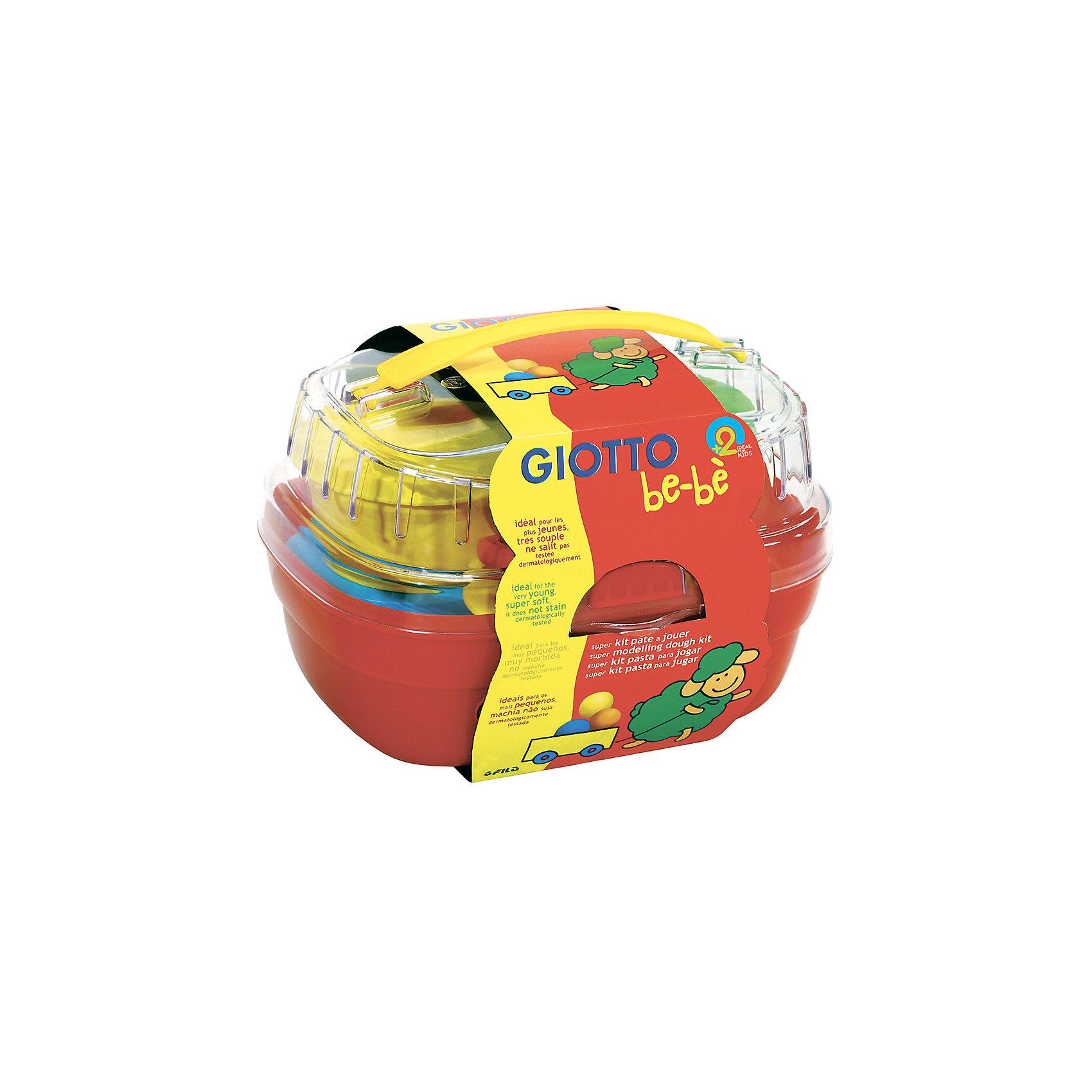 Набор массы для моделирования 4цв х 100 г и аксессуаров для лепки в пластиковом сундучке.Лепка<br>Характеристики товара:<br><br>• упаковка: пластиковый сундучок<br>• комплектация: масса для лепки, аксессуары<br>• материал: пищевые красители, кукурузный крахмал, соль, мука<br>• цветов: 4<br>• вес массы одного цвета: 100 г<br>• возраст: от двух лет<br>• затвердевает на воздухе<br>• развивающая<br>• страна бренда: Италия<br>• страна производства: Китай<br><br>Лепка - отличный способ занять ребенка. Это не только занимательно, но и очень полезно! С помощью такого набора для творчества ребенок сможет сам сделать фигурки с помощью инструментов, а дальше - делать более сложные предметы. Эта масса для моделирования - безопасный материал, в котором только натуральные компоненты: пищевые красители, кукурузный крахмал, соль, мука. В комплекте - масса для лепки и инструменты. Масса сама затвердевает на воздухе.<br>Такое занятие как лепка помогает детям развивать многие важные навыки и способности: они тренируют внимание, память, логику, мышление, мелкую моторику, а также усидчивость и аккуратность. Изделие производится из качественных сертифицированных материалов, безопасных даже для самых маленьких.<br><br>Набор массы для моделирования 4цвх100 г и аксессуаров для лепки в пластиковом сундучке от бренда GIOTTO можно купить в нашем интернет-магазине.<br><br>Ширина мм: 120<br>Глубина мм: 140<br>Высота мм: 180<br>Вес г: 405<br>Возраст от месяцев: 24<br>Возраст до месяцев: 72<br>Пол: Унисекс<br>Возраст: Детский<br>SKU: 5107863