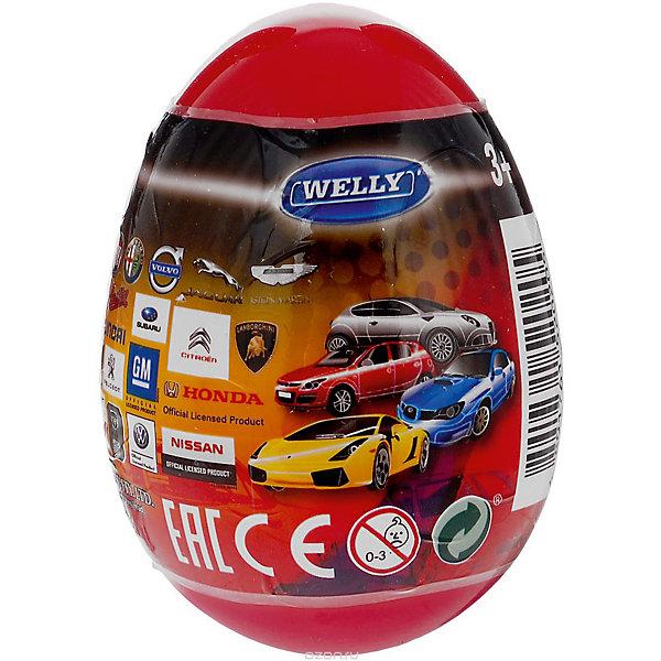 Модель машины 1:60 Яйцо-сюрприз, красная, WellyМашинки<br>Характеристики товара:<br><br>- цвет: разноцветный;<br>- материал: пластик, металл;<br>- размер упаковки: 6х9х6 см;<br>- вес: 50 г;<br>- длина машинки: 8 см.. <br><br>Машинки от бренда Welly в закрытом яйце - отличный сюрприз для мальчика! Каждая машинка - копия настоящей, игрушка очень качественно выполнена, отлично детализирована, поэтому она станет желанным подарком для ребенка. Такое изделие отлично тренирует у ребенка разные навыки: играя с ней, малыш развивает мелкую моторику, цветовосприятие, внимание, воображение и творческое мышление.<br>Продается машинка в закрытом яйце - узнать, какая именно внутри, нельзя. Из этих фигурок можно собрать целую коллекцию! Изделие произведено из высококачественного материала, безопасного для детей.<br><br>Модель машины 1:60 Яйцо-сюрприз, красную, от бренда Welly можно купить в нашем интернет-магазине.<br>Ширина мм: 60; Глубина мм: 90; Высота мм: 60; Вес г: 82; Возраст от месяцев: 36; Возраст до месяцев: 2147483647; Пол: Мужской; Возраст: Детский; SKU: 5109443;