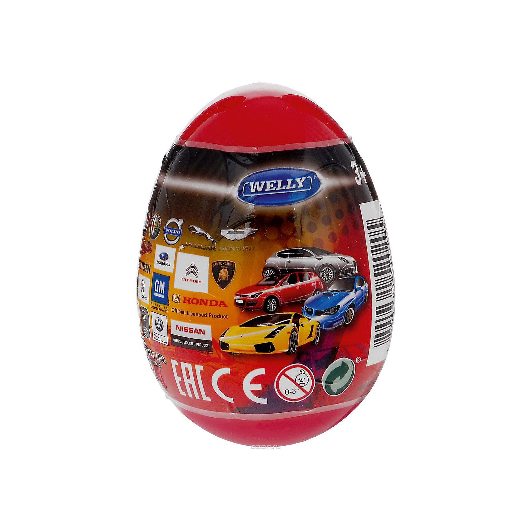 Модель машины 1:60 Яйцо-сюрприз, красная, WellyМашинки<br>Характеристики товара:<br><br>- цвет: разноцветный;<br>- материал: пластик, металл;<br>- размер упаковки: 6х9х6 см;<br>- вес: 50 г;<br>- длина машинки: 8 см.. <br><br>Машинки от бренда Welly в закрытом яйце - отличный сюрприз для мальчика! Каждая машинка - копия настоящей, игрушка очень качественно выполнена, отлично детализирована, поэтому она станет желанным подарком для ребенка. Такое изделие отлично тренирует у ребенка разные навыки: играя с ней, малыш развивает мелкую моторику, цветовосприятие, внимание, воображение и творческое мышление.<br>Продается машинка в закрытом яйце - узнать, какая именно внутри, нельзя. Из этих фигурок можно собрать целую коллекцию! Изделие произведено из высококачественного материала, безопасного для детей.<br><br>Модель машины 1:60 Яйцо-сюрприз, красную, от бренда Welly можно купить в нашем интернет-магазине.<br><br>Ширина мм: 60<br>Глубина мм: 90<br>Высота мм: 60<br>Вес г: 82<br>Возраст от месяцев: 36<br>Возраст до месяцев: 2147483647<br>Пол: Мужской<br>Возраст: Детский<br>SKU: 5109443