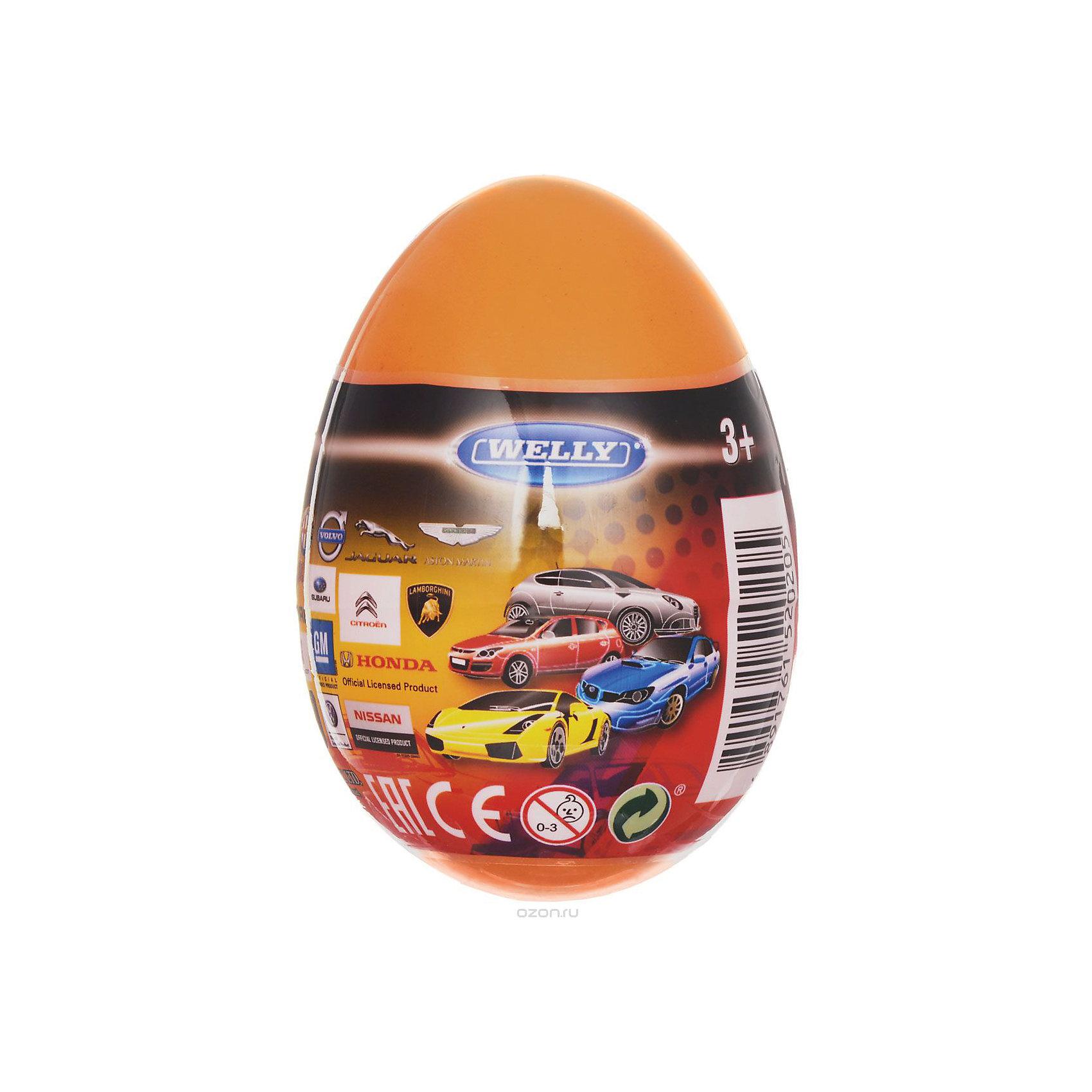 Модель машины 1:60 Яйцо-сюрприз, оранжевая, WellyМашинки<br>Характеристики товара:<br><br>- цвет: разноцветный;<br>- материал: пластик, металл;<br>- размер упаковки: 6х9х6 см;<br>- вес: 50 г;<br>- длина машинки: 8 см.. <br><br>Машинки от бренда Welly в закрытом яйце - отличный сюрприз для мальчика! Каждая машинка - копия настоящей, игрушка очень качественно выполнена, отлично детализирована, поэтому она станет желанным подарком для ребенка. Такое изделие отлично тренирует у ребенка разные навыки: играя с ней, малыш развивает мелкую моторику, цветовосприятие, внимание, воображение и творческое мышление.<br>Продается машинка в закрытом яйце - узнать, какая именно внутри, нельзя. Из этих фигурок можно собрать целую коллекцию! Изделие произведено из высококачественного материала, безопасного для детей.<br><br>Модель машины 1:60 Яйцо-сюрприз, оранжевую, от бренда Welly можно купить в нашем интернет-магазине.<br><br>Ширина мм: 60<br>Глубина мм: 90<br>Высота мм: 60<br>Вес г: 82<br>Возраст от месяцев: 36<br>Возраст до месяцев: 2147483647<br>Пол: Мужской<br>Возраст: Детский<br>SKU: 5109445