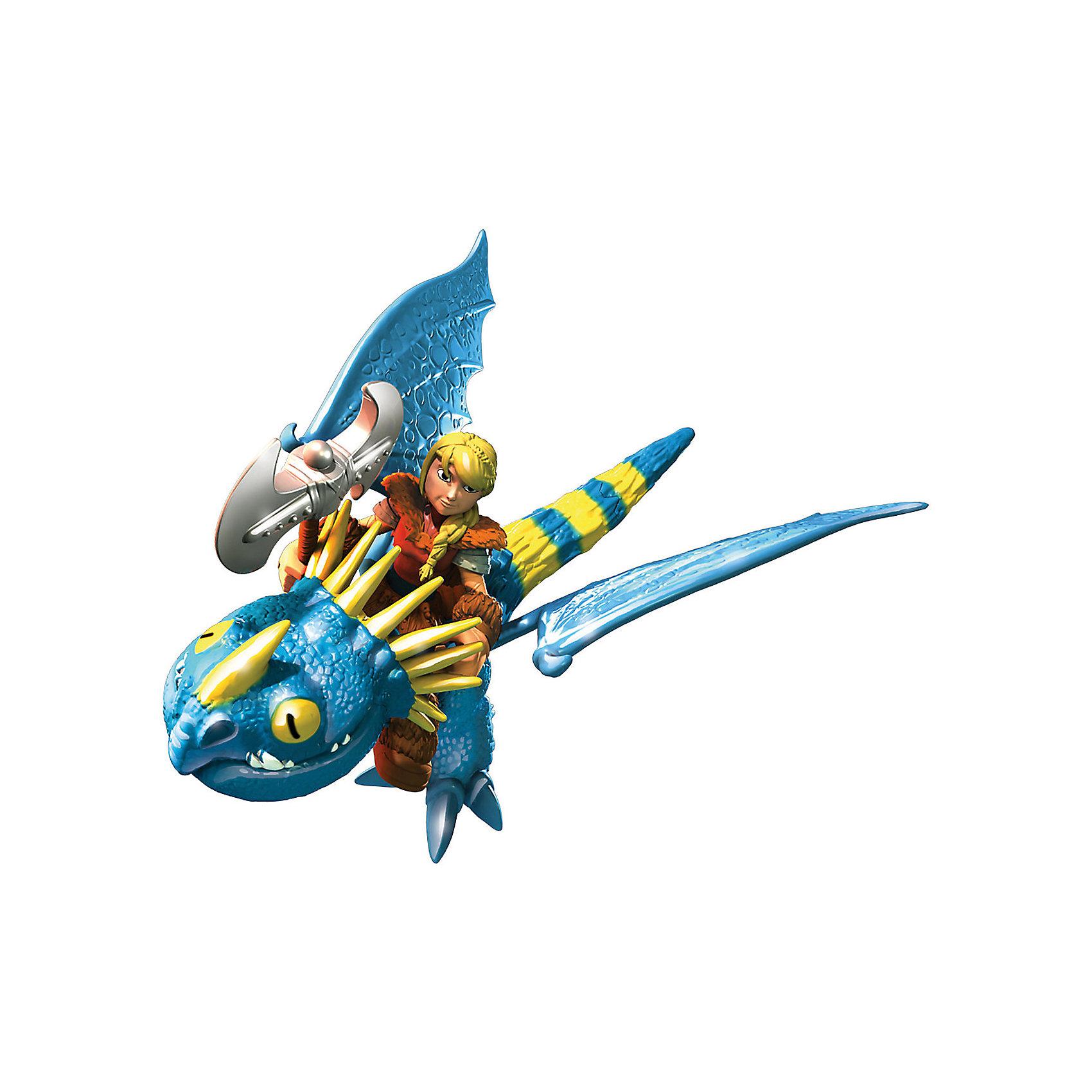 Набор Астрид и всадник, Как приручить дракона, Spin MasterХарактеристики товара:<br><br>- цвет: разноцветный;<br>- материал: пластик;<br>- размер упаковки: 29х21х10 см;<br>- размер дракона: 18 см;<br>- размер всадника: около 6 см;<br>- вес: 320 г;<br>- комплект: фигурки всадника и дракона.<br><br>Играть с героями любимого мультфильма - вдвойне интереснее! Дракон из мультика «Как приручить дракона» имеет гнущиеся крылья, а его всадник дополнен боевым оружием. Каждая фигурка прекрасно детализирована, отлично выполнена, поэтому она станет желанным подарком для ребенка. Такое изделие отлично тренирует у ребенка разные навыки: играя с фигурками, малыш развивает мелкую моторику, цветовосприятие, внимание, воображение и творческое мышление.<br>Из этих фигурок можно собрать целую коллекцию! Изделие произведено из высококачественного материала, безопасного для детей.<br><br>Набор Астрид и всадник, Как приручить дракона, от бренда Spin Master можно купить в нашем интернет-магазине.<br><br>Ширина мм: 290<br>Глубина мм: 100<br>Высота мм: 210<br>Вес г: 250<br>Возраст от месяцев: 36<br>Возраст до месяцев: 2147483647<br>Пол: Унисекс<br>Возраст: Детский<br>SKU: 5109447
