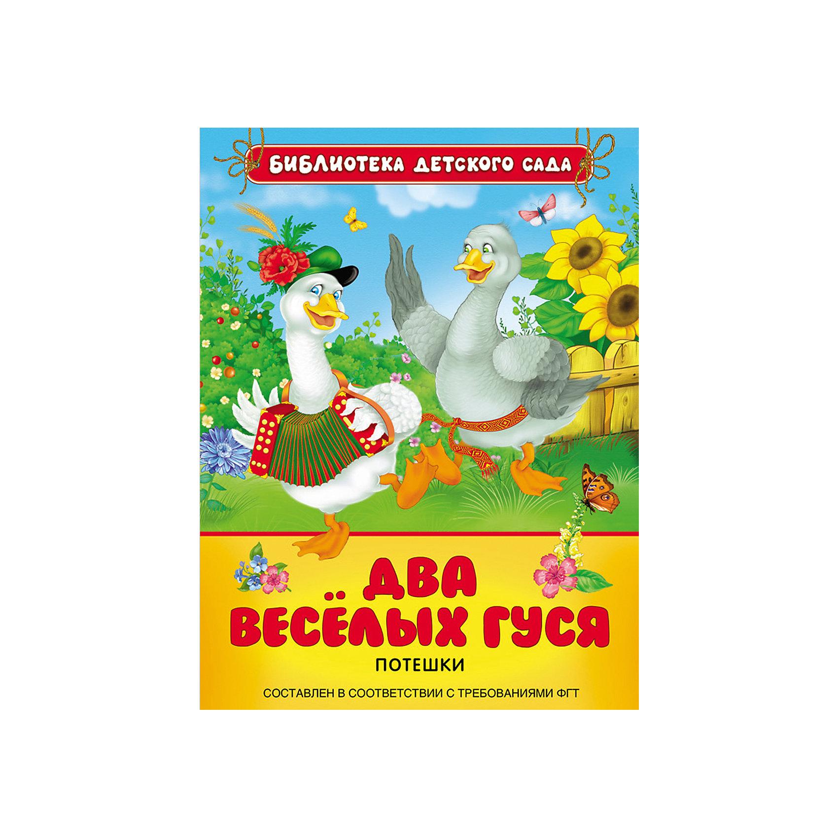 Росмэн Потешки Два веселых гуся обучающая книга азбукварик два веселых гуся 9785906764645