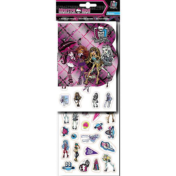 Наклейки 2, Monster HighКнижки с наклейками<br>Характеристики товара:<br><br>- цвет: разноцветный;<br>- материал: бумага;<br>- количество страниц: 8;<br>- формат: 34,5 x 14,5 см;<br>- возраст: 5+;<br>- обложка: мягкая.<br><br>Набор наклеек – отличный подарок для девочек, которые любят персонажей кукол-монстров. В сборнике есть целых 8 листов красочных наклеек с глянцевым или блестящим покрытием! Готовыми картинками можно украсить комнату, тетрадки или блокноты. Стикеры подходят для декорирования любых поверхностей, так как при их удалении не оставляют следов. Все материалы, использованные при производстве издания, соответствуют всем стандартам качества и безопасности. <br><br>Сборник Наклейки 2, Monster High от компании Росмэн можно приобрести в нашем интернет-магазине.<br>Ширина мм: 345; Глубина мм: 125; Высота мм: 3; Вес г: 48; Возраст от месяцев: 60; Возраст до месяцев: 84; Пол: Женский; Возраст: Детский; SKU: 5109857;