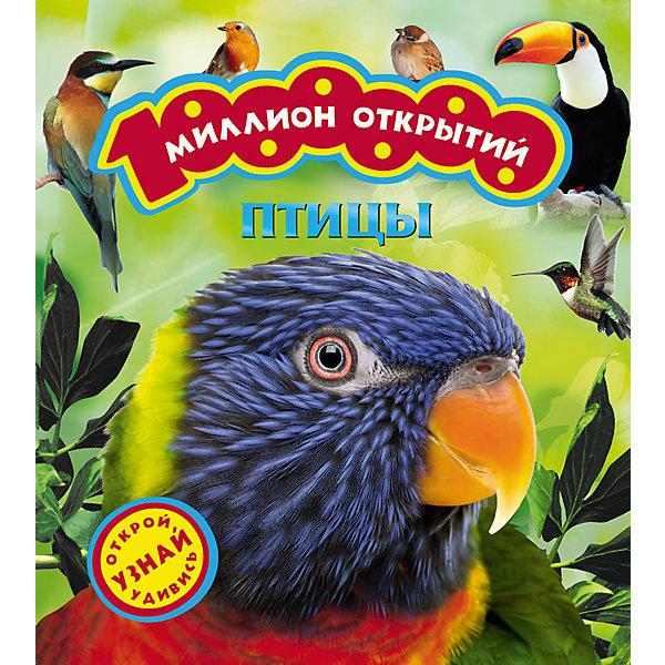 Птицы (Миллион открытий)Детские энциклопедии<br>Характеристики товара:<br><br>- цвет: разноцветный;<br>- материал: бумага;<br>- страниц: 36;<br>- формат: 27 x 24 см;<br>- обложка: твердая;<br>- цветные иллюстрации.<br><br>Эта интересная книга с иллюстрациями станет отличным подарком для ребенка. Она содержит в себе ответы на вопросы, которые интересуют малышей. Всё представлено в очень простой форме! Талантливый иллюстратор дополнил книгу качественными рисунками, которые помогают ребенку понять суть многих вещей в нашем мире. Удивительные и интересные факты помогут привить любовь к учебе!<br>Чтение - отличный способ активизации мышления, оно помогает ребенку развивать зрительную память, концентрацию внимания и воображение. Издание произведено из качественных материалов, которые безопасны даже для самых маленьких.<br><br>Книгу Птицы (Миллион открытий) от компании Росмэн можно купить в нашем интернет-магазине.<br>Ширина мм: 260; Глубина мм: 270; Высота мм: 10; Вес г: 365; Возраст от месяцев: 36; Возраст до месяцев: 72; Пол: Унисекс; Возраст: Детский; SKU: 5109993;