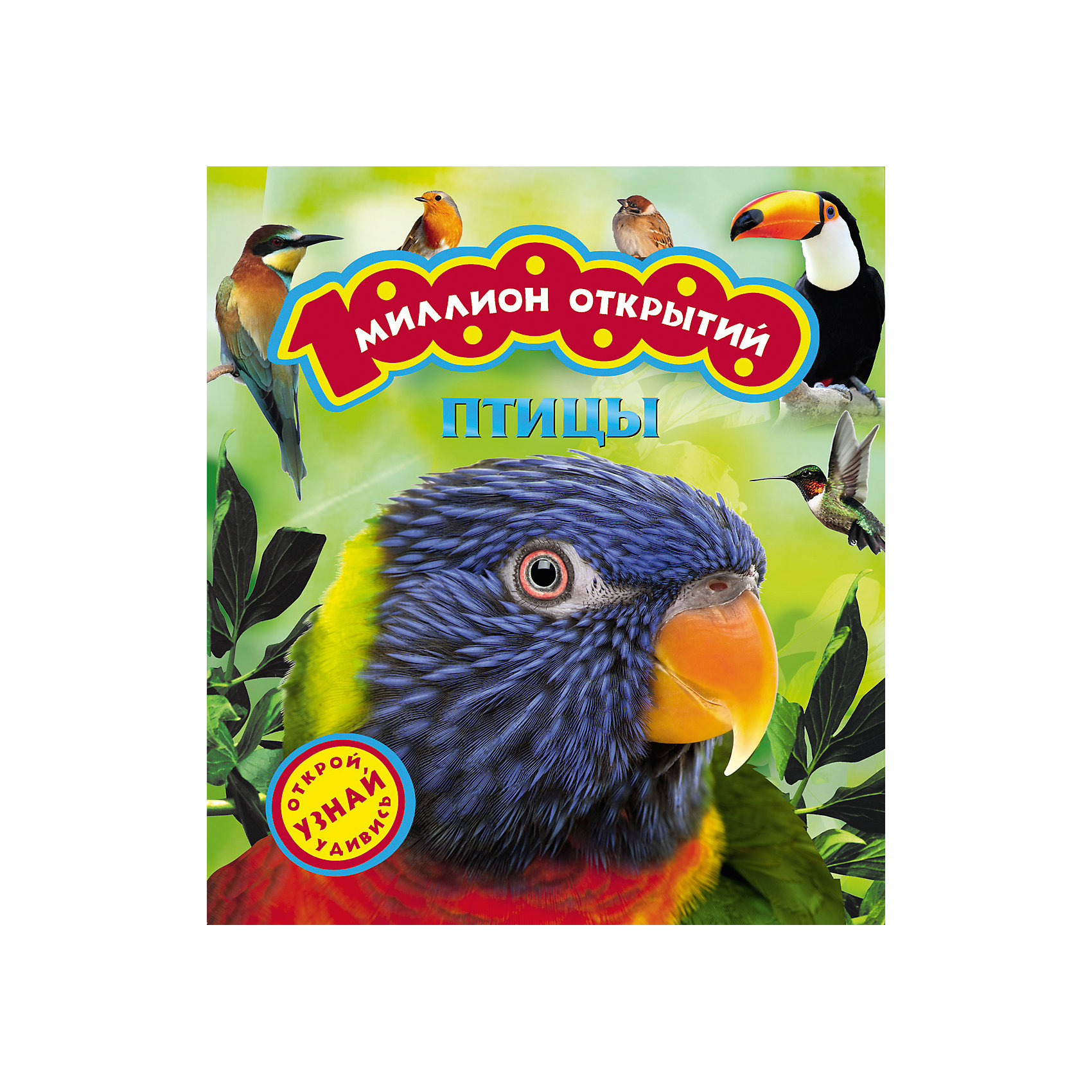 Птицы (Миллион открытий)Характеристики товара:<br><br>- цвет: разноцветный;<br>- материал: бумага;<br>- страниц: 36;<br>- формат: 27 x 24 см;<br>- обложка: твердая;<br>- цветные иллюстрации.<br><br>Эта интересная книга с иллюстрациями станет отличным подарком для ребенка. Она содержит в себе ответы на вопросы, которые интересуют малышей. Всё представлено в очень простой форме! Талантливый иллюстратор дополнил книгу качественными рисунками, которые помогают ребенку понять суть многих вещей в нашем мире. Удивительные и интересные факты помогут привить любовь к учебе!<br>Чтение - отличный способ активизации мышления, оно помогает ребенку развивать зрительную память, концентрацию внимания и воображение. Издание произведено из качественных материалов, которые безопасны даже для самых маленьких.<br><br>Книгу Птицы (Миллион открытий) от компании Росмэн можно купить в нашем интернет-магазине.<br><br>Ширина мм: 260<br>Глубина мм: 270<br>Высота мм: 10<br>Вес г: 365<br>Возраст от месяцев: 36<br>Возраст до месяцев: 72<br>Пол: Унисекс<br>Возраст: Детский<br>SKU: 5109993
