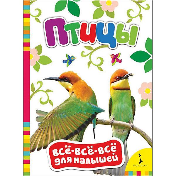 Птицы, Все-все-все для малышейЭнциклопедии для малышей<br>Характеристики товара:<br><br>- цвет: разноцветный;<br>- материал: бумага;<br>- страниц: 8;<br>- формат: 22 х 16 см;<br>- обложка: картон;<br>- цветные иллюстрации. <br><br>Эта полезная книга станет отличным подарком для родителей и ребенка. Она содержит в себе фотографии, а также интересные вопросы и задания, связанные с различными птицами. Отличный способ привить малышу любовь к занятиям и начать обучение!<br>Чтение и рассматривание картинок даже в юном возрасте помогает ребенку развивать память, концентрацию внимания и воображение. Издание произведено из качественных материалов, которые безопасны даже для самых маленьких.<br><br>Издание Птицы, Все-все-все для малышей от компании Росмэн можно купить в нашем интернет-магазине.<br>Ширина мм: 220; Глубина мм: 160; Высота мм: 5; Вес г: 111; Возраст от месяцев: 0; Возраст до месяцев: 36; Пол: Унисекс; Возраст: Детский; SKU: 5110070;
