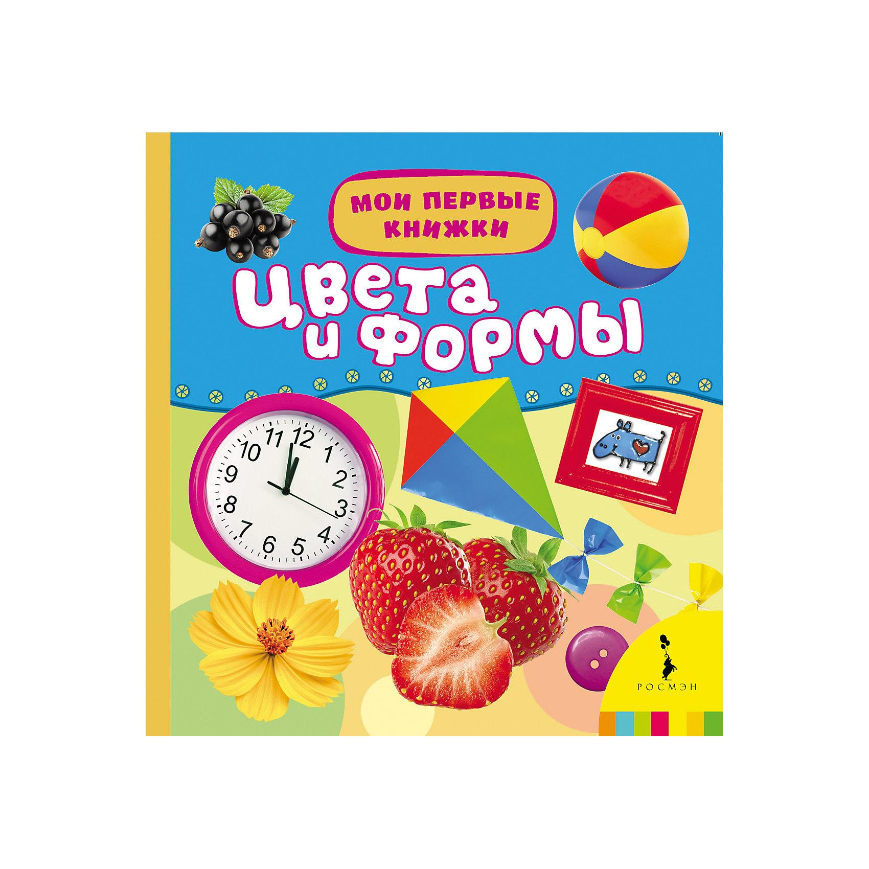 Цвета и формы, Мои первые книжкиХарактеристики товара:<br><br>- цвет: разноцветный;<br>- материал: картон;<br>- страниц: 14;<br>- формат: 17 х 17 см;<br>- обложка: пухлая;<br>- цветные иллюстрации. <br><br>Издания серии Мои первые книжки - хороший способ занять ребенка! Эта красочная книга станет отличным подарком для родителей и малыша. Она содержит в себе рассказ о разных цветах и формах. Плюс - яркие иллюстрации. Отличный способ привить малышу любовь к чтению! Удобный формат и плотные странички позволят брать книгу с собой в поездки.<br>Чтение и рассматривание картинок даже в юном возрасте помогает ребенку развивать память, концентрацию внимания и воображение. Издание произведено из качественных материалов, которые безопасны даже для самых маленьких.<br><br>Издание Цвета и формы, Мои первые книжки от компании Росмэн можно купить в нашем интернет-магазине.<br><br>Ширина мм: 165<br>Глубина мм: 165<br>Высота мм: 20<br>Вес г: 310<br>Возраст от месяцев: 0<br>Возраст до месяцев: 36<br>Пол: Унисекс<br>Возраст: Детский<br>SKU: 5110299
