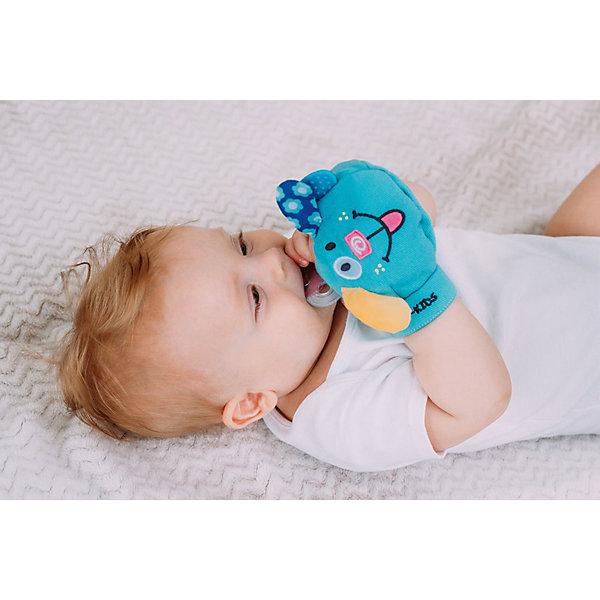 Рукавичка с прорезователем Вуффи, Roxy-KidsКомфортеры<br>Характеристика:<br><br>- Материал: хлопок.<br>- Возраст: от 4 месяцев.<br>- В комплекте: рукавичка-игрушка, съемный прорезыватель и рукавичка-антицарапка.<br><br>Такая красивая рукавичка надежно защитит нежную кожу ребенка от рефлекторных движений рук и пальцев, предотвращает появление царапин на лице. А еще, рукавичка поможет избавиться от привычек сосать руки или палец, что немаловажно для гармоничного развития ребенка в будущем!<br><br>Рукавичку с прорезователем Вуффи от Roxy-Kids, можно купить в нашем магазине.<br><br>Ширина мм: 130<br>Глубина мм: 110<br>Высота мм: 40<br>Вес г: 70<br>Возраст от месяцев: 0<br>Возраст до месяцев: 12<br>Пол: Унисекс<br>Возраст: Детский<br>SKU: 5111424