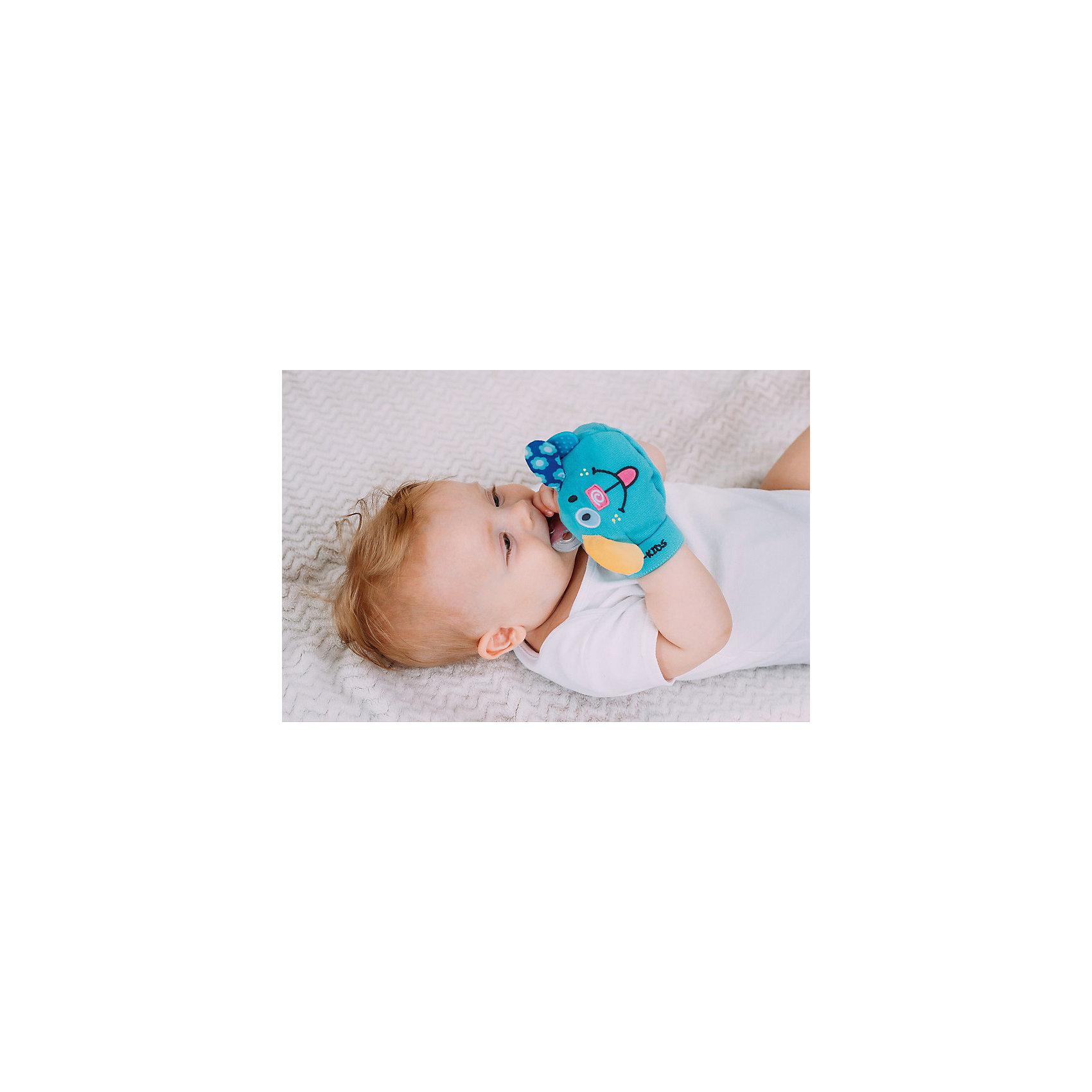 Roxy-Kids Рукавичка с прорезователем Вуффи, Roxy-Kids roxy kids козырек защитный для мытья головы rbc 492 g зеленый от 6 месяцев до 3 лет