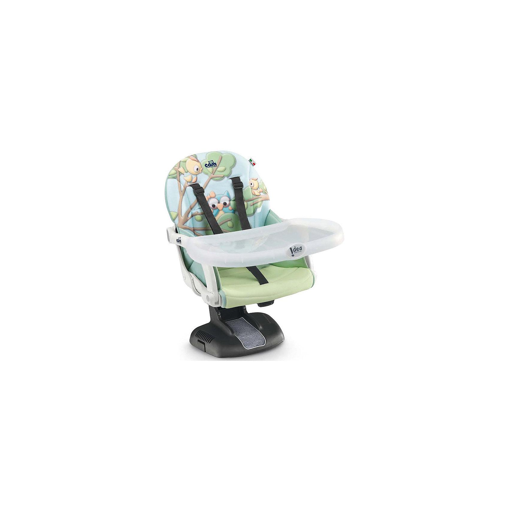 Стульчик для кормления Idea, CAM, совы.Стульчики для кормления<br>Стульчик для кормления Idea, CAM, совы – компактная модель для дома и дачи.<br>Тип стульчика – бустер. Он крепится к обычной мебели и может быть отрегулирован с помощью 7 уровней высоты сидения. Мягкое сидение и подлокотники делают сиденье комфортным для ребенка, а ремни безопасности защищают малыша от падения и не дают ему выбраться самостоятельно. <br><br> Дополнительная информация:<br>- размер: 52х36х40 см<br>- вес: 2,8<br><br><br>Стульчик для кормления Idea, CAM, совы можно купить в нашем интернет магазине.<br><br>Ширина мм: 995<br>Глубина мм: 369<br>Высота мм: 504<br>Вес г: 3750<br>Возраст от месяцев: 6<br>Возраст до месяцев: 36<br>Пол: Унисекс<br>Возраст: Детский<br>SKU: 5111807