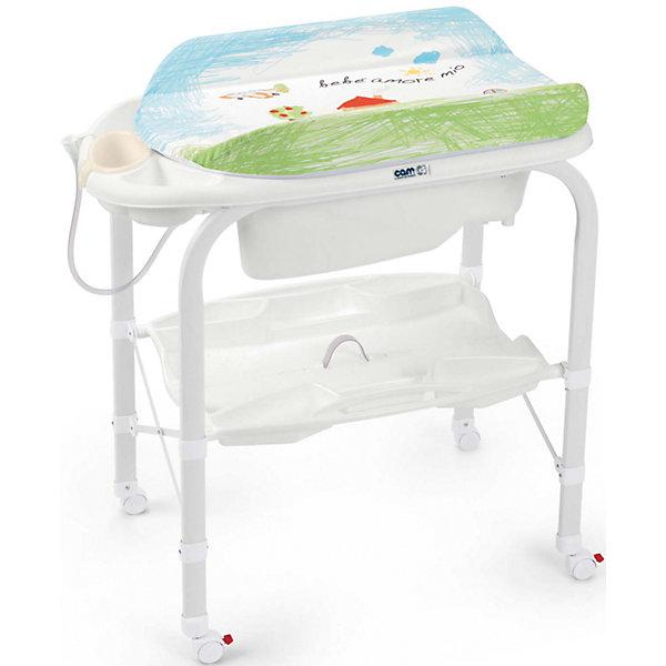 Пеленальный столик Cambio, CAM, совы.Пеленальные столы<br>Пеленальный стол Cambio, CAM, идеально подходит для удобного и комфортного ухода за малышом. Основу конструкции составляет металлический каркас с закругленными углами. Съемная анатомическая ванночка может использоваться в 2-х позициях: для малышей от 0 до 6 месяцев и от 6 до 12 месяцев. Предусмотрены отделения для губки и мыла и отверстие для подвода воды через трубку. Под дном ванночки крепится удобный пластиковый контейнер с полкой-держателем для бутылочек и необходимых принадлежностей во время купания. Мягкий съемный пеленальный матрасик с высокими бортиками надежно и бережно поддерживает спинку малыша, оснащен системой безопасного крепления и предотвращения падения. Столик оборудован четырьмя колесиками, два из которых со стопорами. Пеленальный столик легко и компактно складывается и не занимает много места при хранении.<br><br><br>Дополнительная информация:<br>- Материал: металл, пластик.<br>- Размер в разложенном виде: 95 x 54 x 104 см.<br>- Размер в сложенном виде: 83 x 31 x 93 см.<br>- Вес: 10,8 кг.<br><br>Пеленальный стол Cambio, CAM, совы можно купить в нашем интернет-магазине.<br>Ширина мм: 965; Глубина мм: 209; Высота мм: 800; Вес г: 13600; Возраст от месяцев: 0; Возраст до месяцев: 12; Пол: Унисекс; Возраст: Детский; SKU: 5111808;