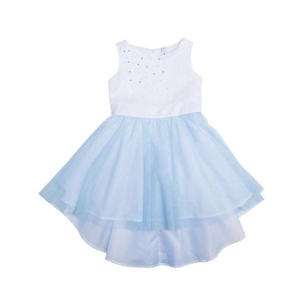 Платье для девочки PlayTodayОдежда<br>Платье для девочки от известного бренда PlayToday.<br>Платье без рукавов.<br><br>Верх выполнен из мягкого гипюра, хлопковая подкладка обеспечивает максимальное удобство. Удлиненная задняя часть создает эффект шлейфа. Украшено асимметричной россыпью жемчужных страз с правого плеча. Застегивается на потайную молнию сзади.<br>Состав:<br>Верх: 100% полиэстер, Подкладка: 100% хлопок<br><br>Ширина мм: 236<br>Глубина мм: 16<br>Высота мм: 184<br>Вес г: 177<br>Цвет: белый<br>Возраст от месяцев: 36<br>Возраст до месяцев: 48<br>Пол: Женский<br>Возраст: Детский<br>Размер: 104,122,98,116,110,128<br>SKU: 5113805