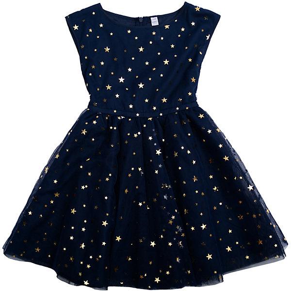 Нарядное платье для девочки PlayTodayОдежда<br>Платье для девочки от известного бренда PlayToday.<br>Платье без рукавов.<br><br>Верх выполнен из легкого сетчатого материала, хлопковая подкладка обеспечивает максимальное удобство. Украшено россыпью золотистых пайеток в форме звезд.<br>Состав:<br>Верх: 100% полиэстер, Подкладка: 100% хлопок<br><br>Ширина мм: 236<br>Глубина мм: 16<br>Высота мм: 184<br>Вес г: 177<br>Цвет: синий<br>Возраст от месяцев: 24<br>Возраст до месяцев: 36<br>Пол: Женский<br>Возраст: Детский<br>Размер: 98,104,122,116,110,128<br>SKU: 5113833