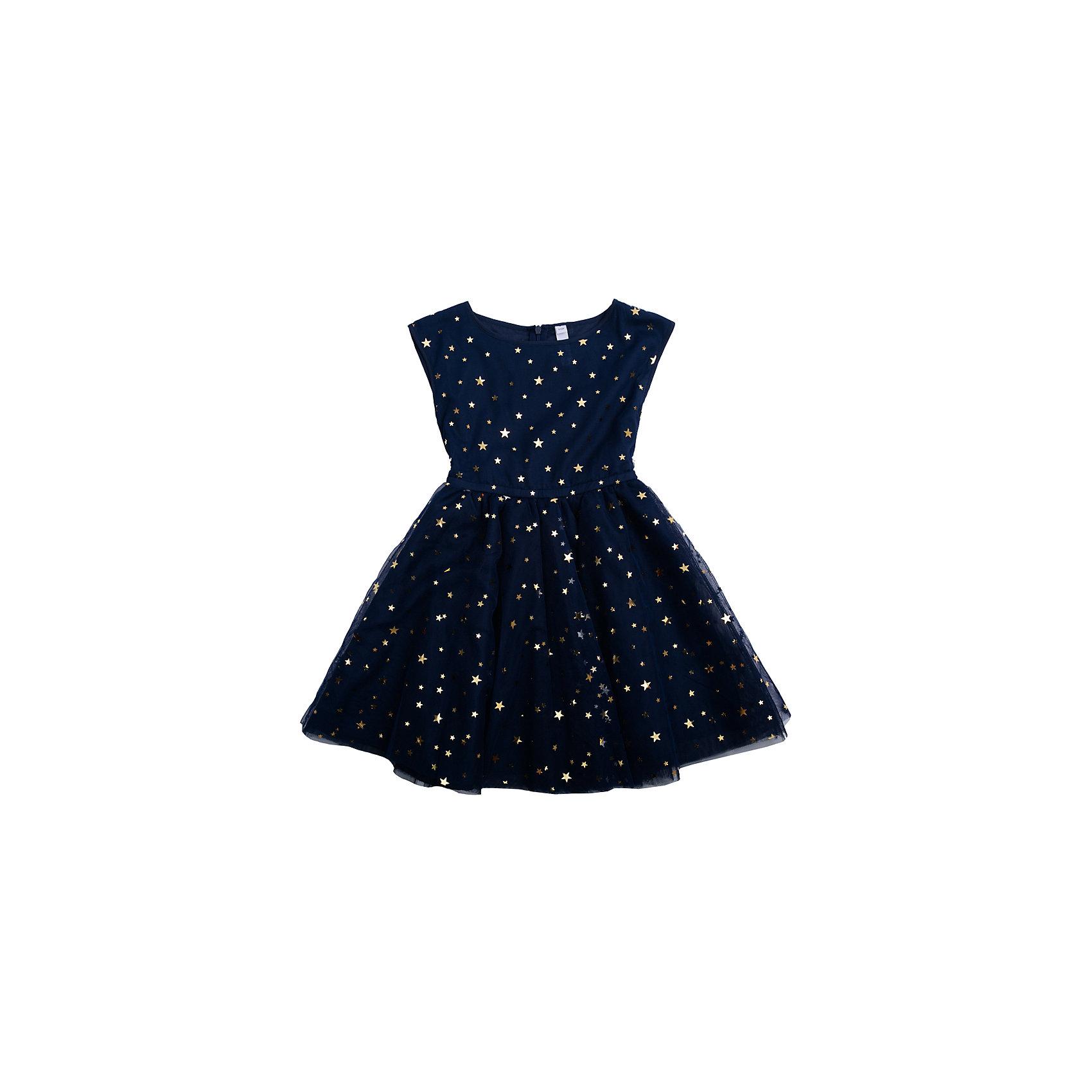 Нарядное платье для девочки PlayTodayОдежда<br>Платье для девочки от известного бренда PlayToday.<br>Платье без рукавов.<br><br>Верх выполнен из легкого сетчатого материала, хлопковая подкладка обеспечивает максимальное удобство. Украшено россыпью золотистых пайеток в форме звезд.<br>Состав:<br>Верх: 100% полиэстер, Подкладка: 100% хлопок<br><br>Ширина мм: 236<br>Глубина мм: 16<br>Высота мм: 184<br>Вес г: 177<br>Цвет: синий<br>Возраст от месяцев: 24<br>Возраст до месяцев: 36<br>Пол: Женский<br>Возраст: Детский<br>Размер: 98,122,104,128,110,116<br>SKU: 5113833