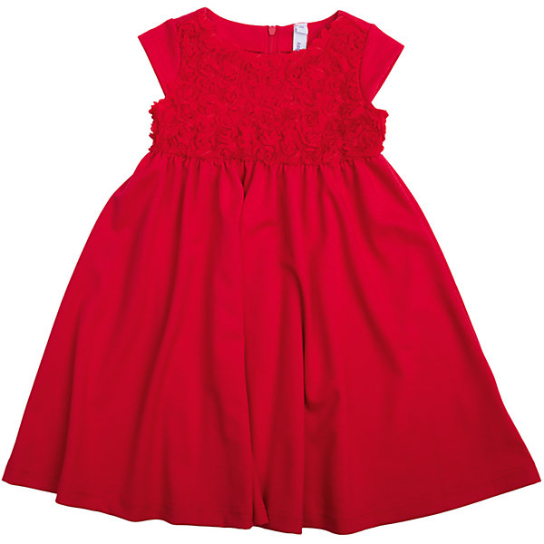 Нарядное платье для девочки PlayTodayПлатья и сарафаны<br>Платье для девочки от известного бренда PlayToday.<br>Платье с короткими рукавами.<br><br>Выполнено из легкой вискозы – в нем не будет жарко на празднике. Верх украшен фактурным цветочным узором. Застегивается на молнию на спине.<br>Состав:<br>65% полиэстер, 30% вискоза, 5% эластан<br><br>Ширина мм: 236<br>Глубина мм: 16<br>Высота мм: 184<br>Вес г: 177<br>Цвет: красный<br>Возраст от месяцев: 24<br>Возраст до месяцев: 36<br>Пол: Женский<br>Возраст: Детский<br>Размер: 98,104,122,116,110,128<br>SKU: 5113862