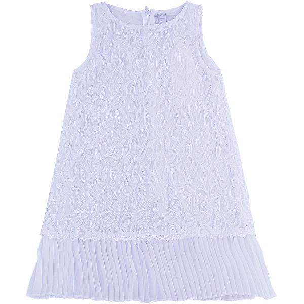 Нарядное платье для девочки PlayTodayОдежда<br>Платье для девочки от известного бренда PlayToday.<br>Платье без рукавов.<br><br>Верх из нежного гипюра, мягкая хлопковая подкладка обеспечивает удобство. По низу плиссированная отделка. Застегивается на потайную молнию сзади.<br>Состав:<br>Верх: 80% хлопок, 20% полиамид; подкладка: 100% хлопок<br><br>Ширина мм: 236<br>Глубина мм: 16<br>Высота мм: 184<br>Вес г: 177<br>Цвет: белый<br>Возраст от месяцев: 24<br>Возраст до месяцев: 36<br>Пол: Женский<br>Возраст: Детский<br>Размер: 98,116,110,128,104,122<br>SKU: 5113869