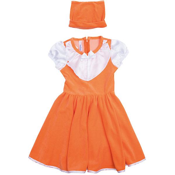 Нарядное платье для девочки PlayTodayКарнавальные костюмы для девочек<br>Платье для девочки от известного бренда PlayToday.<br>Платье с короткими рукавами.<br><br>Выполнено из нежного велюра. Полноценный костюм лисички, не уступающий в удобстве базовым хлопковым платьям. Контрастная сатиновая отделка рукавов и воротника создает эффект многослойности. Сзади пояс, чтобы завязать бант. Застегивается на потайную молнию на спине. <br><br>Модель дополнена шапкой с декоративными ушками.<br>Состав:<br>80% хлопок, 20% полиэстер<br>Ширина мм: 236; Глубина мм: 16; Высота мм: 184; Вес г: 177; Цвет: оранжевый; Возраст от месяцев: 36; Возраст до месяцев: 48; Пол: Женский; Возраст: Детский; Размер: 104,122,128,110,116,98; SKU: 5113891;