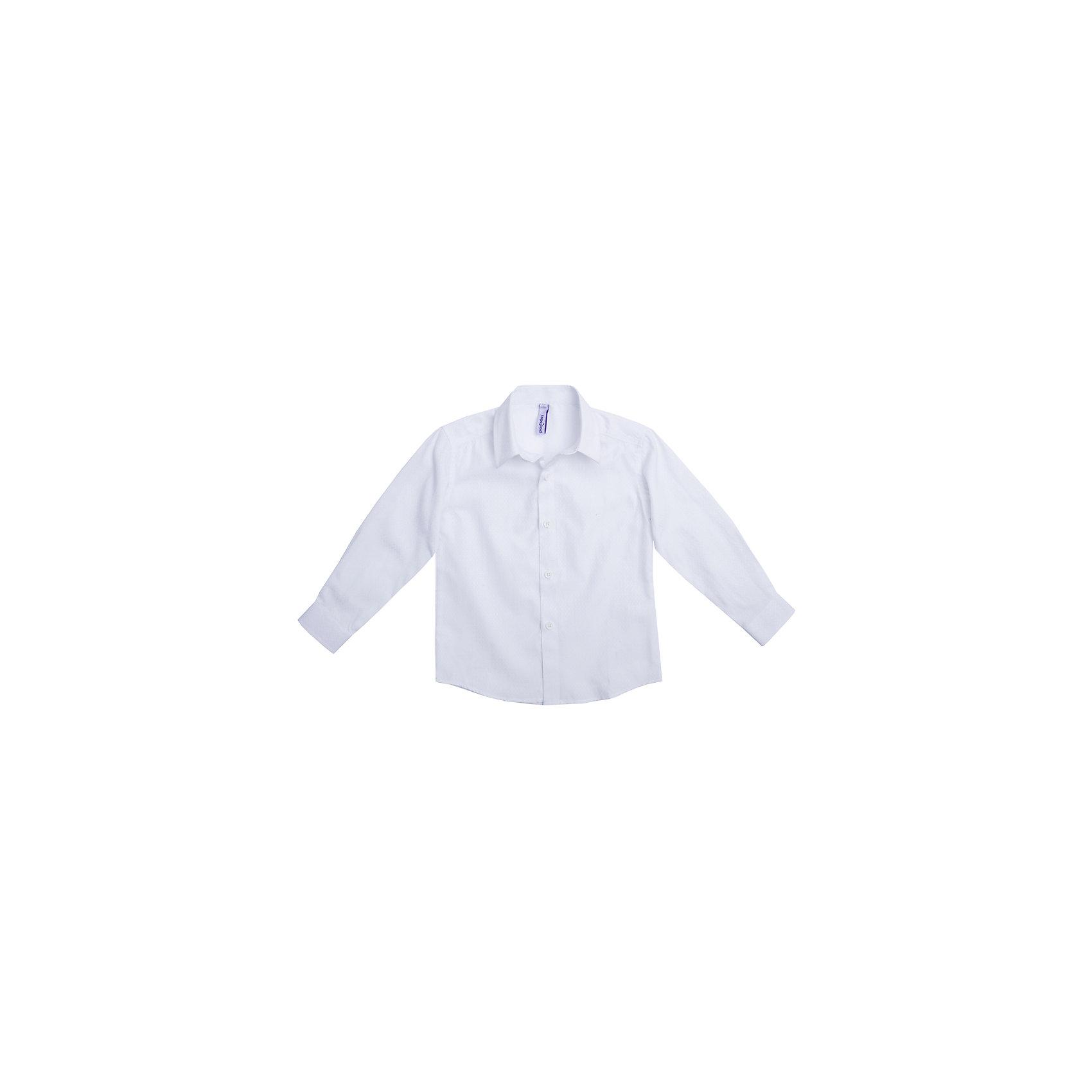 Рубашка для мальчика PlayTodayРубашка для мальчика от известного бренда PlayToday.<br>Лаконичная нарядная сорочка.<br><br>Классическая модель: отложной воротник, аккуратные рукава с усеченными углами, полупрозрачные пуговицы. Украшена узором с легким матовым блеском.<br>Состав:<br>60% полиэстер, 40% хлопок<br><br>Ширина мм: 174<br>Глубина мм: 10<br>Высота мм: 169<br>Вес г: 157<br>Цвет: белый<br>Возраст от месяцев: 36<br>Возраст до месяцев: 48<br>Пол: Мужской<br>Возраст: Детский<br>Размер: 116,110,128,104,98,122<br>SKU: 5113927