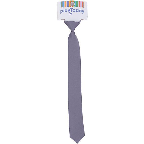 Галстук для мальчика PlayTodayАксессуары<br>Галстук для мальчика от известного бренда PlayToday.<br>Стильный галстук.<br><br>Выполнен из гладкого материала с легким матовым блеском. Удобная застежка.<br>Состав:<br>100% полиэстер<br><br>Ширина мм: 170<br>Глубина мм: 157<br>Высота мм: 67<br>Вес г: 117<br>Цвет: серый<br>Возраст от месяцев: 36<br>Возраст до месяцев: 96<br>Пол: Мужской<br>Возраст: Детский<br>Размер: one size<br>SKU: 5113999