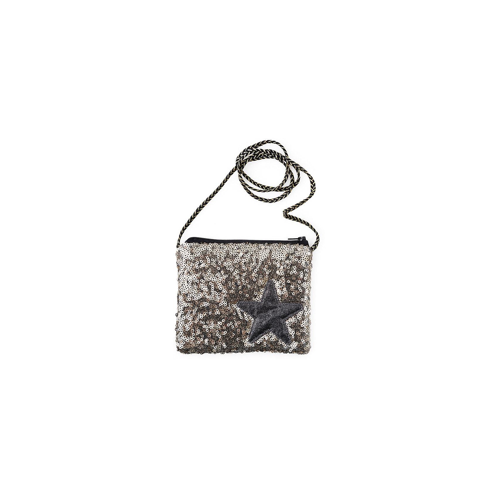 Сумка для девочки PlayTodayСумка для девочки от известного бренда PlayToday.<br>Текстильная сумка.<br><br>Украшена сверкающими золотистыми пайетками и аппликацией со звездой. Застегивается на молнию. Есть черно-золотой шнур.<br>Состав:<br>100% полиэстер<br><br>Ширина мм: 227<br>Глубина мм: 11<br>Высота мм: 226<br>Вес г: 350<br>Цвет: черный<br>Возраст от месяцев: 36<br>Возраст до месяцев: 96<br>Пол: Женский<br>Возраст: Детский<br>Размер: one size<br>SKU: 5114041