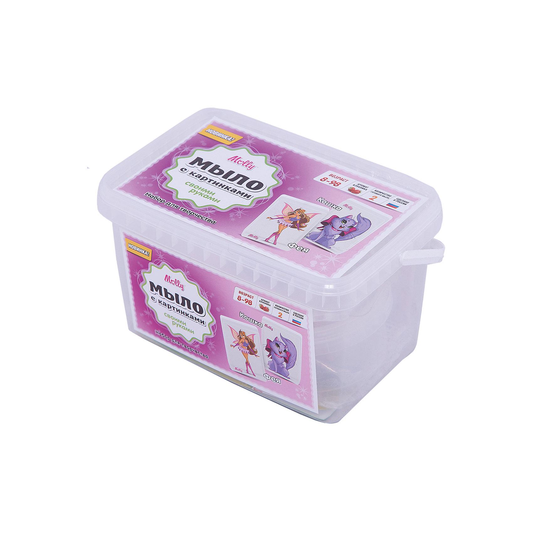 Мыло с картинками Фея и кошкаСоздание мыла<br>Оригинальное тематическое мыло, которое можно создать своими руками. В состав набора входит: мыльная основа 200гр., 2 красителя, 2 ароматизатора, 2 формы для мыла, емкость для плавления мыльной основы, одноразовые перчатки и подробная инструкция.<br><br>Ширина мм: 20<br>Глубина мм: 13<br>Высота мм: 11<br>Вес г: 250<br>Возраст от месяцев: 96<br>Возраст до месяцев: 144<br>Пол: Унисекс<br>Возраст: Детский<br>SKU: 5115177