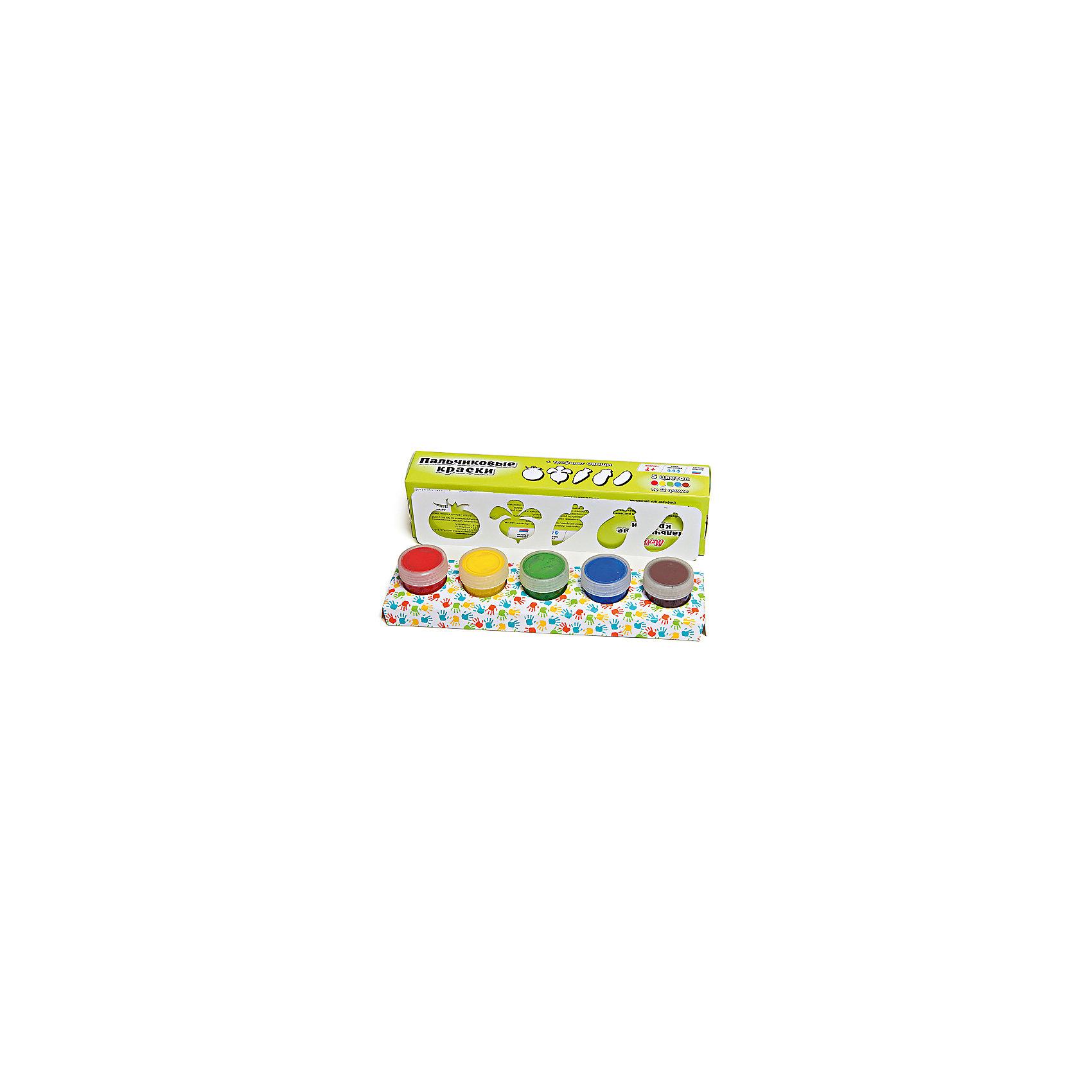 Пальчиковые краски + трафарет Овощи 5цв х 22млПальчиковые краски<br>Краски идеально подходят для раннего обучения цветам, развития тонкой моторики, тактильного восприятия. В состав включены тематический трафарет для рисования. Состав: пищевой краситель, целлюлозный загуститель, глицерин, мел, консервант косметический, вода питьевая.<br><br>Ширина мм: 24<br>Глубина мм: 6<br>Высота мм: 4<br>Вес г: 110<br>Возраст от месяцев: 12<br>Возраст до месяцев: 60<br>Пол: Унисекс<br>Возраст: Детский<br>SKU: 5115207