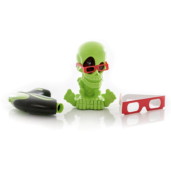 Проекционный 3D Тир Джонни-Черепок  с 1 бластеромИгрушечные пистолеты и бластеры<br>Характеристики товара:<br><br>- цвет: разноцветный;<br>- материал: пластик; <br>- габариты упаковки: 27х25х13 см;<br>- вес: 830 г;<br>- возраст: 6+.<br><br>Техника не стоит на месте, поэтому детские игрушки с каждым годом становятся интереснее и сложнее в производстве. Черепок – это проектор, к которому прилагаются 3Д очки. В них ребенок видит летающих монстров, которых должен убить двойным выстрелом. Интерактивный тир прямо у себя в комнате – мечта всех мальчиков, следящих за миром техники! Материалы, использованные при изготовлении изделия, абсолютно безопасны и полностью отвечают международным требованиям по качеству детских товаров.<br><br>Игрушку «Проекционный 3D Тир Джонни-Черепок с 1 бластером» можно купить в нашем интернет-магазине.<br>Ширина мм: 270; Глубина мм: 250; Высота мм: 130; Вес г: 830; Возраст от месяцев: 60; Возраст до месяцев: 2147483647; Пол: Унисекс; Возраст: Детский; SKU: 5115463;