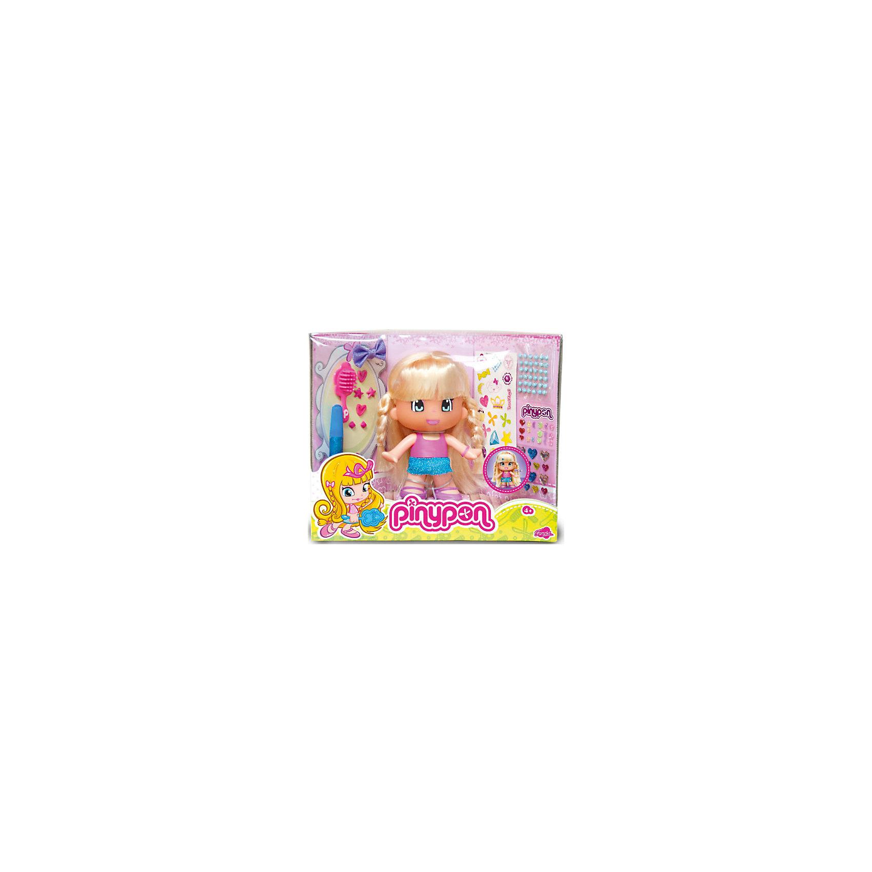 Кукла famosa пинипон макияж и модная прическа