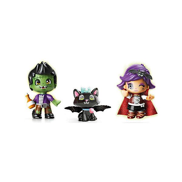 Игровой набор Пинипон, серия Monster, FamosaКуклы<br>Игровой набор Пинипон, серия Monster, Famosa<br><br>В набор входит:<br><br>-2 куклы<br>-кошка<br>-аксессуары<br><br>Характеристики:<br><br>-Возраст: от 4 лет<br>-Размер упаковки: 26 х 5 х 19 см<br>-Материал: пластик<br>-Марка: Famosa(Фамоса)<br><br>Куклы Пинипон из серии Monster порадуют вашего ребёнка своими необычными,устрашающими нарядами. В комплекте с куклами идет много разных аксессуаров и домашний питомец. С такими куклами ребёнок сможет придумать много разных историй в рамках праздника Хеллоуин. Куклы сделаны их качественных материалов, поэтому абсолютно бесопасны для детей.<br><br>Игровой набор Пинипон, серия Monster, Famosa можно приобрести в нашем интернет-магазине.<br><br>Ширина мм: 267<br>Глубина мм: 55<br>Высота мм: 187<br>Вес г: 25<br>Возраст от месяцев: 48<br>Возраст до месяцев: 120<br>Пол: Женский<br>Возраст: Детский<br>SKU: 5115715