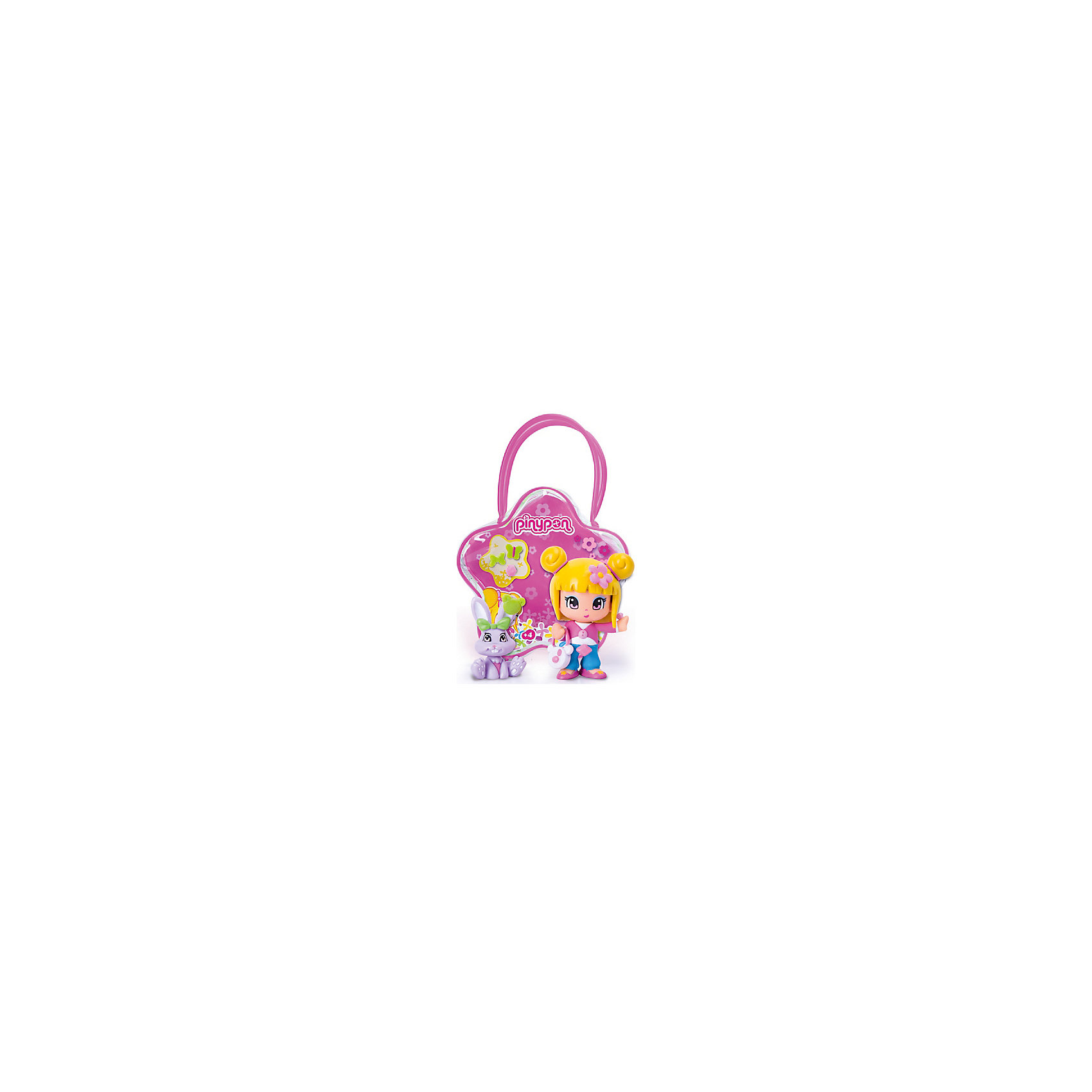 Famosa Кукла Пинипон со светлыми волосами с кроликом в сумочке, Famosa набор 2 кукол famosa пинипон чемпионы аксесс 2 в ассорт