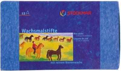 Stockmar Мелки восковые пальчиковые, ассорти 12 цветов, Stoсkmar