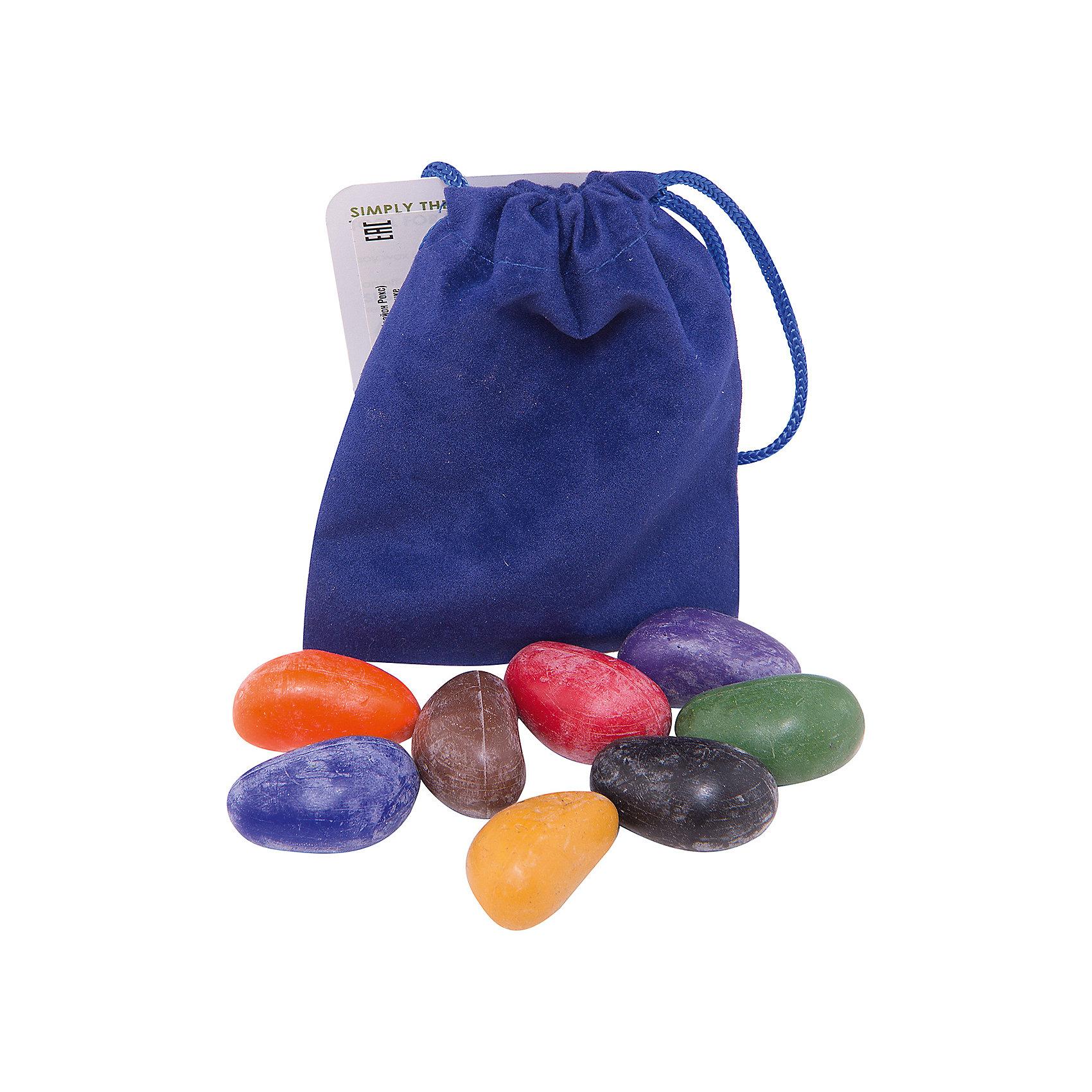 Мелки-камушки восковые, 8 шт, Crayon RocksМелки-камушки восковые, 8 шт, Crayon Rocks<br><br>Характеристика:<br><br>-Возраст: от 3 лет<br>-Вес: 50 г <br>-Размер: 10х2х13 <br>-8 штук <br>-марка: Crayon Rocks (Крайон Рокс)<br><br>Форма мелков-камушек идеально подходит и для самых маленьких художников, линии получаются живые и живописные, а что бы закрасить большой участок бумаги нужно гораздо меньше времени и усилий. Мелки камушки абсолютно натуральны и безопасны. Они сделаны из соевого воска, который производится из соевых бобов, выращенных в США. Окрашены камушки исключительно натуральными пигментами. Все цвета летние, солнечные, при наложении на бумагу очень напоминают пастель. Они не крошатся, не пачкают одежду и не откалываются при падении. При рисовании штрихи мягкие, усилий прикладывать не нужно. Так же они отлично ложатся не только на бумагу, но и  на любую другую поверхность (например дерево или кирпич). Мелки расфасованы в льняные или бархатные мешочки, что делает их удобными для хранения и путешествий. <br><br>Мелки-камушки восковые, 8 шт, Crayon Rocks можно приобрести в нашем интернет-магазине.<br><br>Ширина мм: 100<br>Глубина мм: 20<br>Высота мм: 130<br>Вес г: 50<br>Возраст от месяцев: 36<br>Возраст до месяцев: 168<br>Пол: Унисекс<br>Возраст: Детский<br>SKU: 5116906