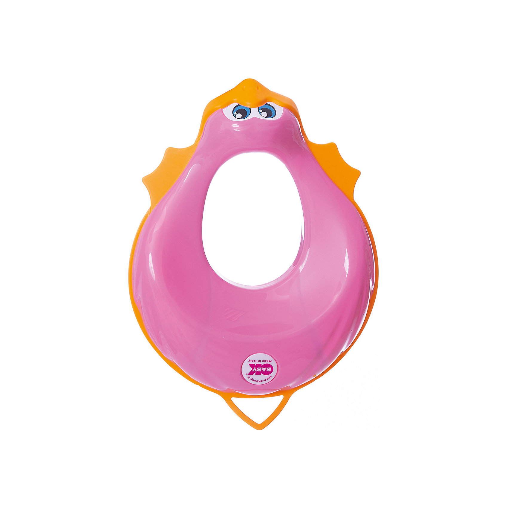 Накладка на унитаз, Ducka, Ok Baby, розовыйНакладка на унитаз выполнена из высококачественных материалов, имеет привлекательный дизайн и яркий цвет. Сиденье обязательно понравится ребенку и поможет быстро приучить кроху к унитазу. Поверхность, выполненная из мягкой резины, не позволит накладке соскользнуть или изменить свое положение в то время, когда ребенок сидит на ней, обеспечит безопасность и комфорт. <br><br>Дополнительная информация:<br><br>- Материал: пластик, резина.<br>- Размер: 32,5х9,5х41 см.<br>- Анатомическая форма. <br>- Подходит для унитазов разных форм и размеров. <br>- Яркий, привлекательный дизайн. <br><br>Накладку на унитаз, Ducka, Ok Baby, розовый, можно купить в нашем магазине.<br><br>Ширина мм: 905<br>Глубина мм: 410<br>Высота мм: 325<br>Вес г: 800<br>Возраст от месяцев: 12<br>Возраст до месяцев: 48<br>Пол: Женский<br>Возраст: Детский<br>SKU: 5117214