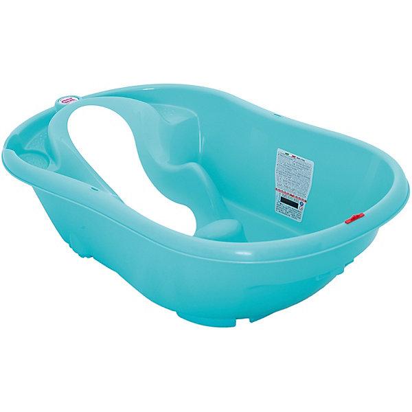 Ванна Onda Evolution, OK Baby, бирюзовыйТовары для купания<br>Ванна Onda Evolution, OK Baby сделает процесс купания Вашего малыша удобным и безопасным, доставит ему много радости и удовольствия. Ванночка эргономичной формы оснащена специальным сиденьем с тремя ограничителями (подмышечные и паховая), которые надежно закрепляют малыша и позволяют мыть его без посторонней помощи.<br>Мягкое резиновое сиденье можно установить в двух положениях: лежа (для детей от 0 до 6 мес.) и сидя (от 6 до 12 мес.). Ванночка также оборудована встроенным электронным термометром, подставками для гигиенических принадлежностей и сливом в форме ключа. При использовании специального крепления (перекладин) возможна установка на обычную ванну для взрослых. Ванночка изготовлена из безопасных для детей высококачественных материалов. <br><br>Дополнительная информация:<br>- Материал: высококачественный пластик. <br>- Возраст: с 0 мес. - 1 год.<br>- Размеры: 54 х 28 х 94 см.<br>- Вес: 2,2 кг.<br><br>Ванну Onda Evolution, OK Baby можно купить в нашем интернет-магазине.<br><br>Ширина мм: 540<br>Глубина мм: 280<br>Высота мм: 940<br>Вес г: 2500<br>Возраст от месяцев: 0<br>Возраст до месяцев: 12<br>Пол: Унисекс<br>Возраст: Детский<br>SKU: 5117217