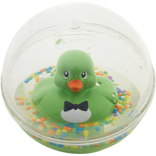 Развивающая игрушка Уточка с плавающими шариками, зеленая, Fisher PriceИгрушки для ванной<br>Характеристики товара:<br><br>• возраст от 3 месяцев;<br>• материал: пластик;<br>• диаметр 8,5 см;<br>• размер упаковки 16х13,5х10 см;<br>• вес упаковки 300 гр.;<br>• страна производитель: Китай.<br><br>Развивающая игрушка Уточка с плавающими шариками Fisher Price зеленая сделает купание малыша или игру дома забавными и увлекательными. Игрушка выполнена в виде прозрачного шарика с плавающей внутри уточкой, который малыш может толкать, переворачивать, катать. Внутри шарика разноцветные детали, похожие на конфетти. В процессе игры у малыша развиваются мелкая моторика рук, тактильные ощущения, зрительное восприятие.<br><br>Развивающую игрушку Уточка с плавающими шариками Fisher Price зеленую можно приобрести в нашем интернет-магазине.<br><br>Ширина мм: 176<br>Глубина мм: 142<br>Высота мм: 99<br>Вес г: 230<br>Возраст от месяцев: 3<br>Возраст до месяцев: 24<br>Пол: Унисекс<br>Возраст: Детский<br>SKU: 5117319