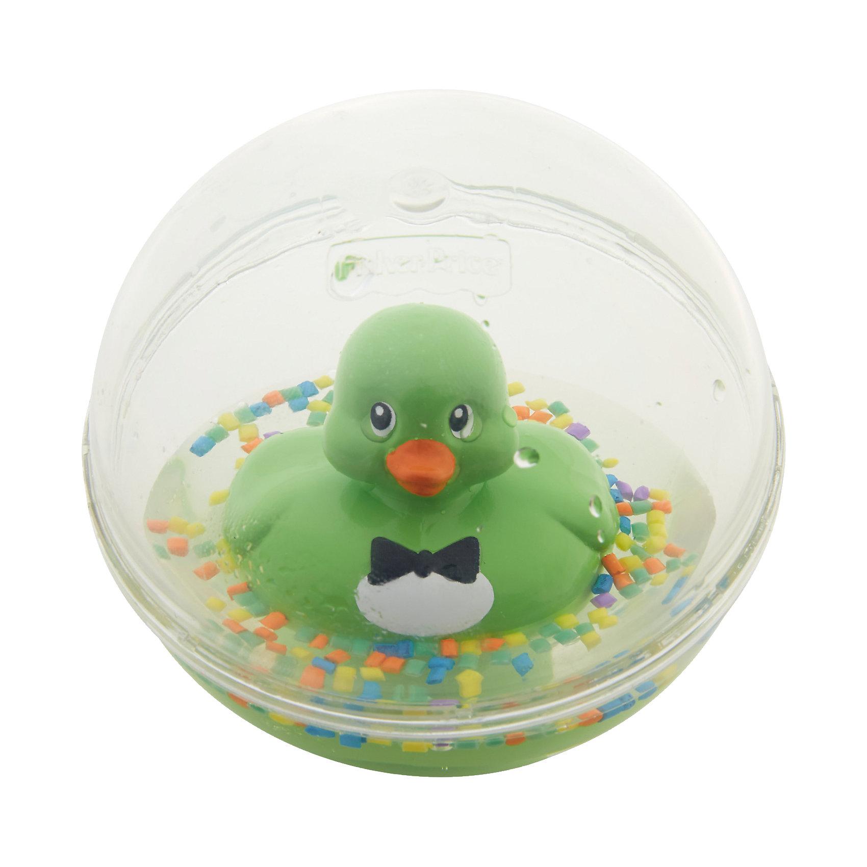 Развивающая игрушка Уточка с плавающими шариками, зеленая, Fisher PriceРазвивающие игрушки<br>Характеристики товара:<br><br>• возраст от 3 месяцев;<br>• материал: пластик;<br>• диаметр 8,5 см;<br>• размер упаковки 16х13,5х10 см;<br>• вес упаковки 300 гр.;<br>• страна производитель: Китай.<br><br>Развивающая игрушка Уточка с плавающими шариками Fisher Price зеленая сделает купание малыша или игру дома забавными и увлекательными. Игрушка выполнена в виде прозрачного шарика с плавающей внутри уточкой, который малыш может толкать, переворачивать, катать. Внутри шарика разноцветные детали, похожие на конфетти. В процессе игры у малыша развиваются мелкая моторика рук, тактильные ощущения, зрительное восприятие.<br><br>Развивающую игрушку Уточка с плавающими шариками Fisher Price зеленую можно приобрести в нашем интернет-магазине.<br><br>Ширина мм: 176<br>Глубина мм: 142<br>Высота мм: 99<br>Вес г: 230<br>Возраст от месяцев: 3<br>Возраст до месяцев: 24<br>Пол: Унисекс<br>Возраст: Детский<br>SKU: 5117319